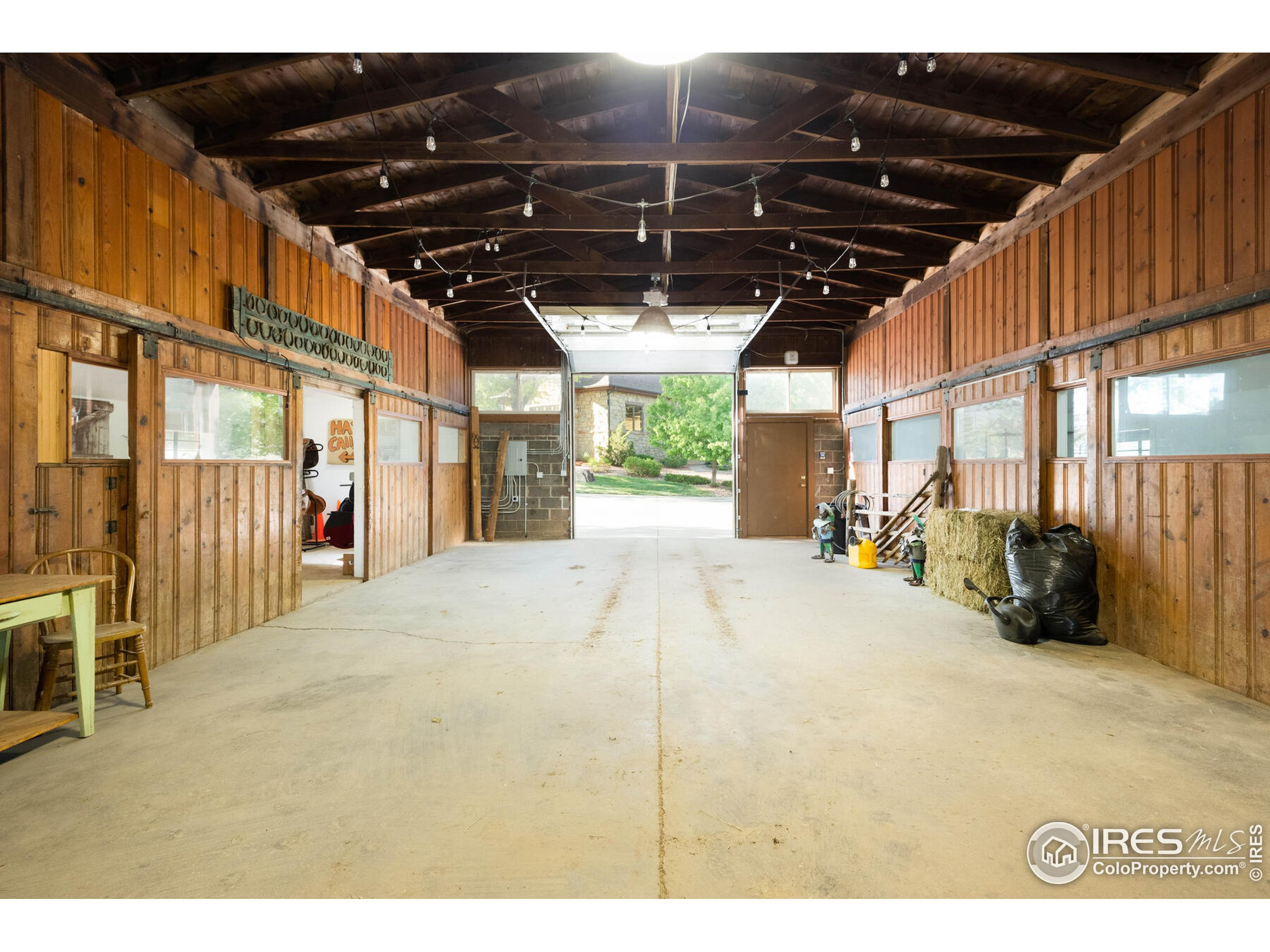 2580 Sq. Ft. Horse Stable with 6 Box Stalls, Tack Room, Tool Room, Office and Bath