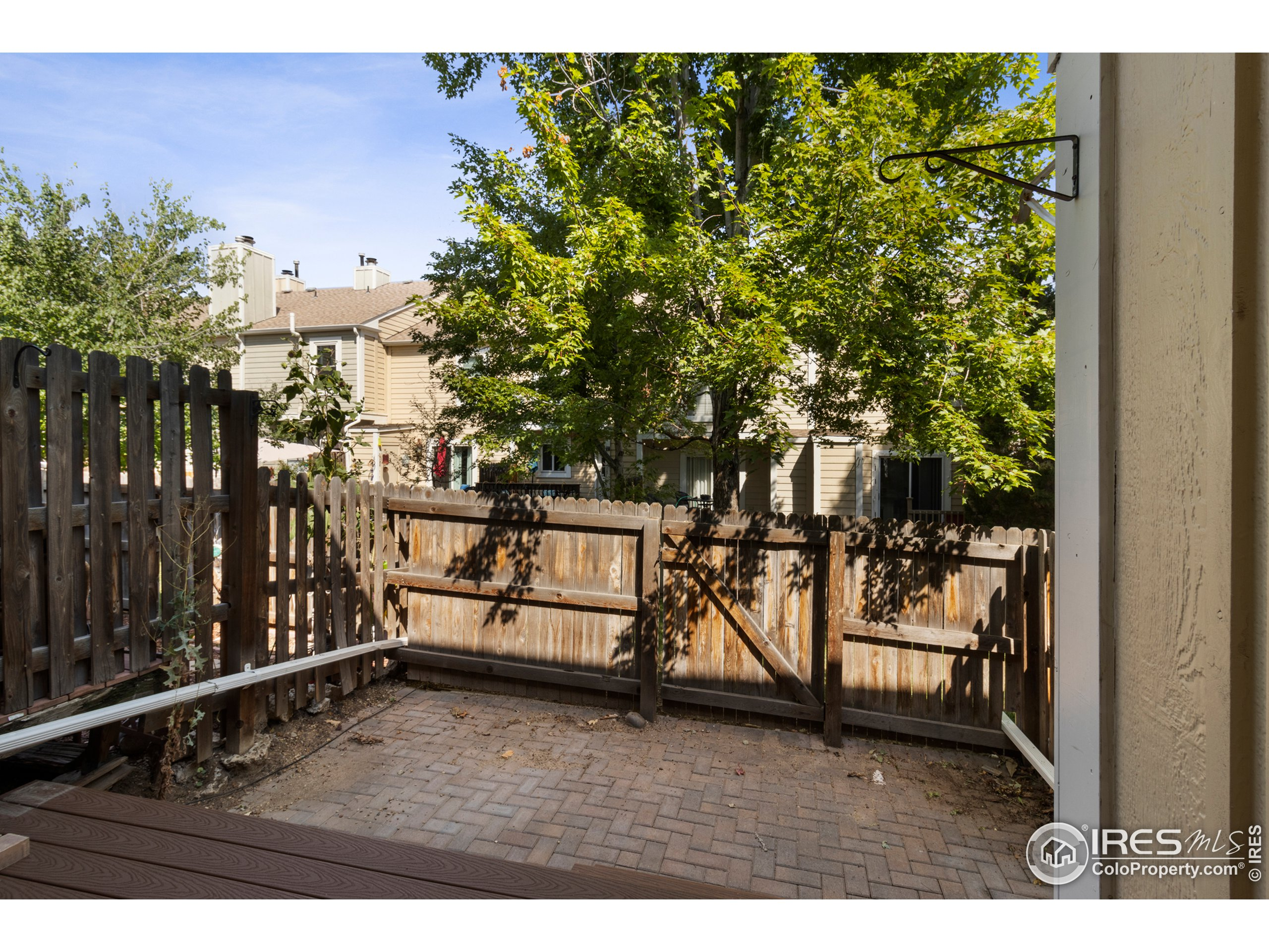 Private, fenced patio space in the back