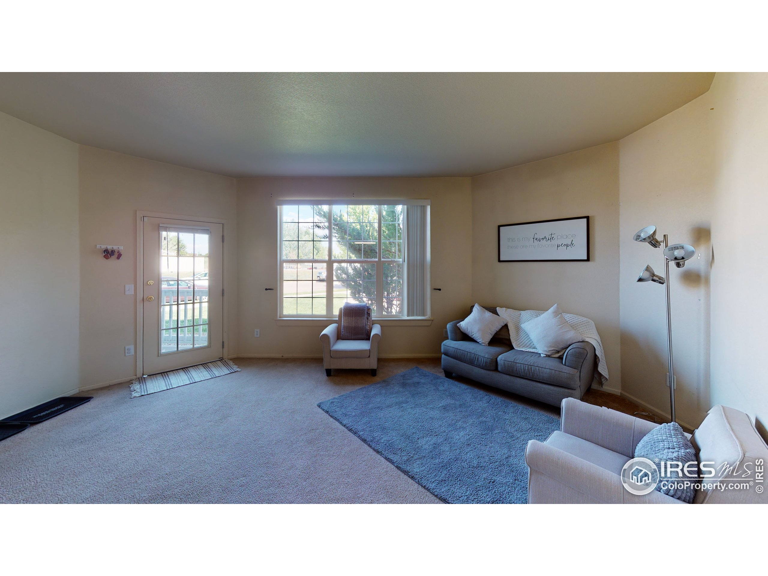Walk out to covered patio from your living room