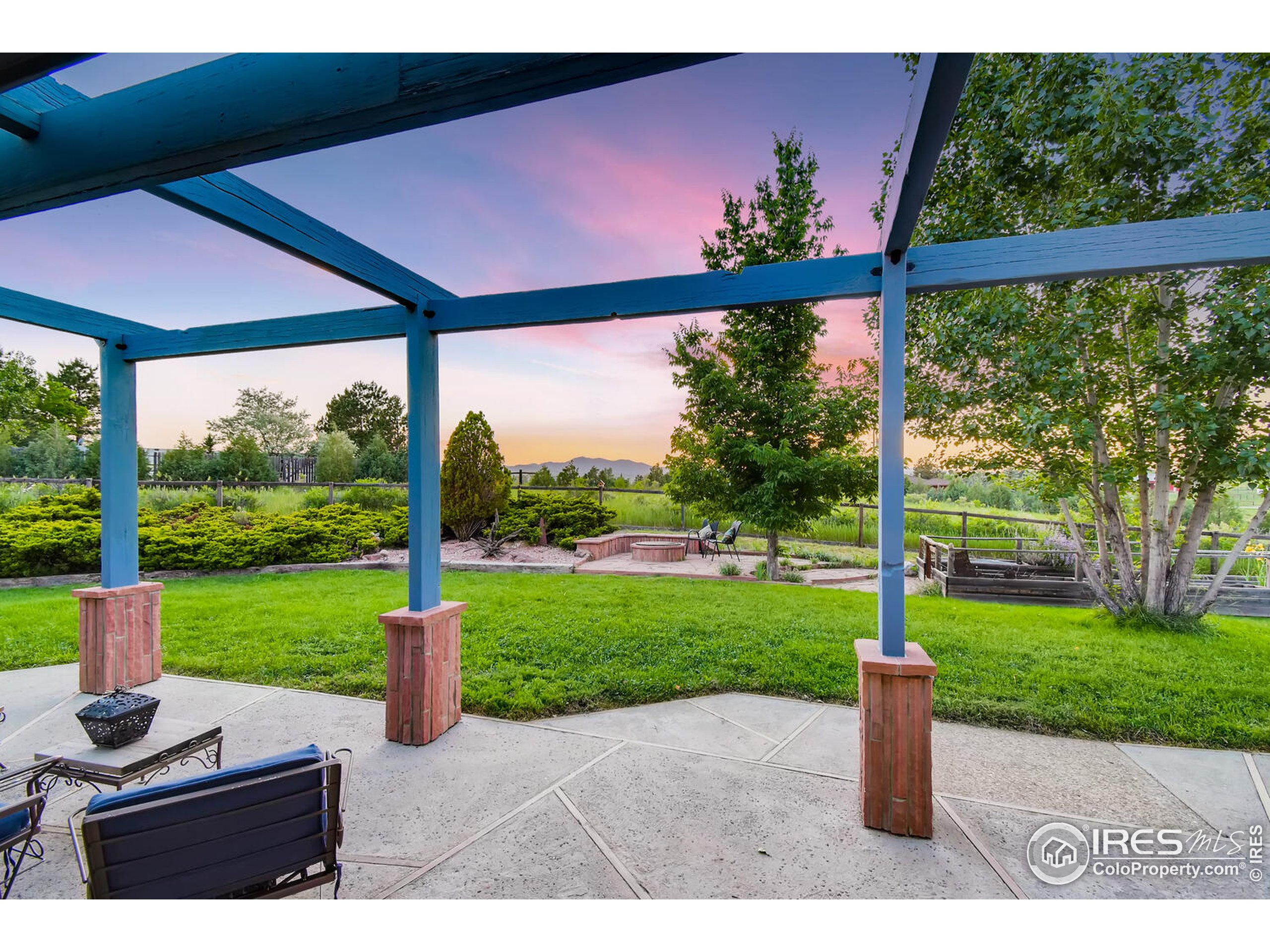West Facing Patio with Views