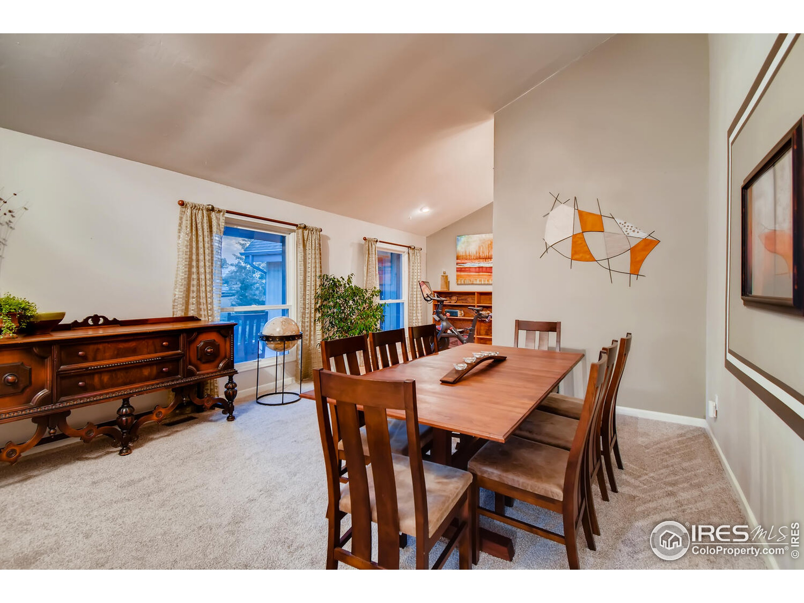 Dining Room with New Carpet