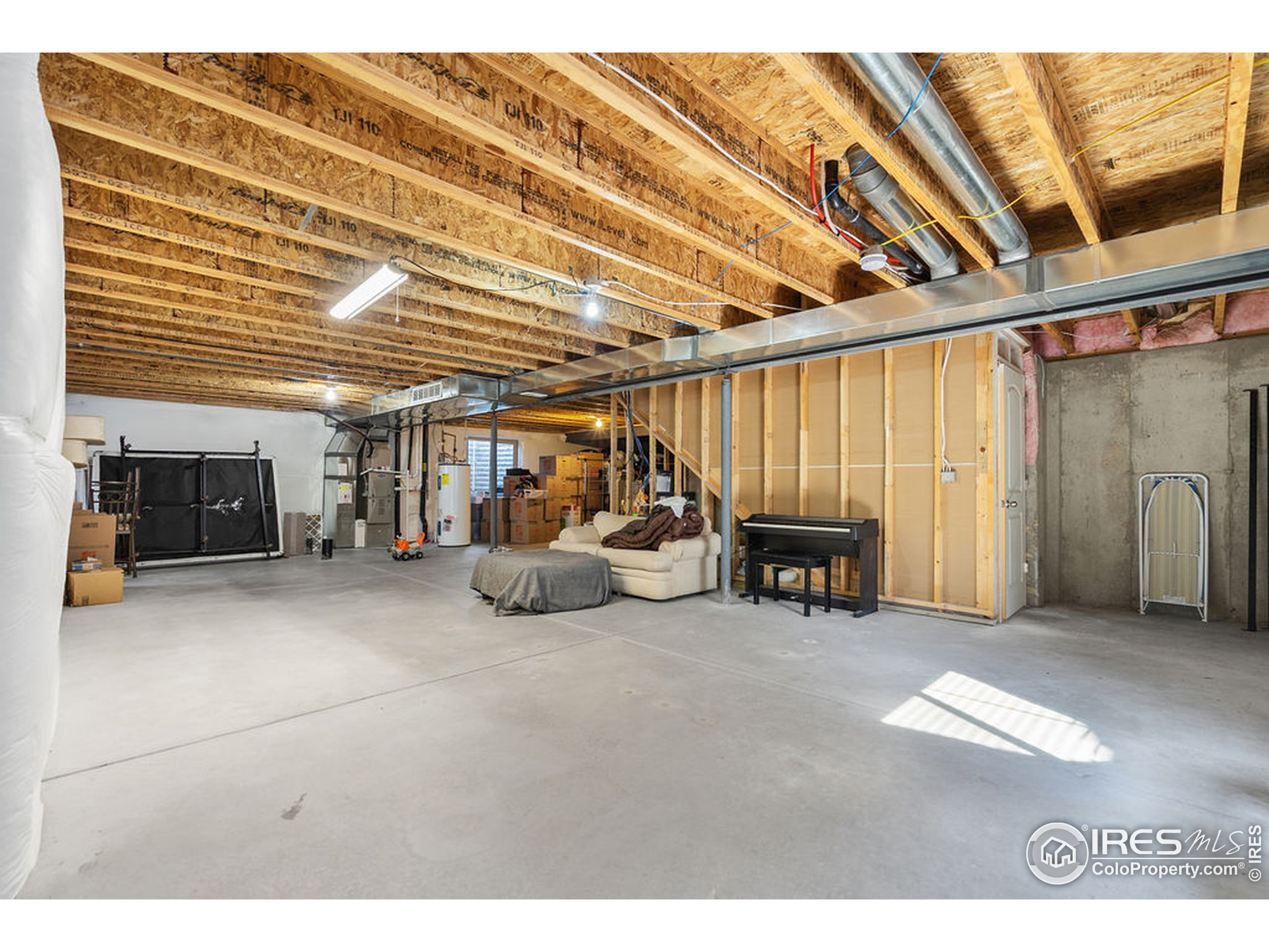 Spacious Unfinished Basement