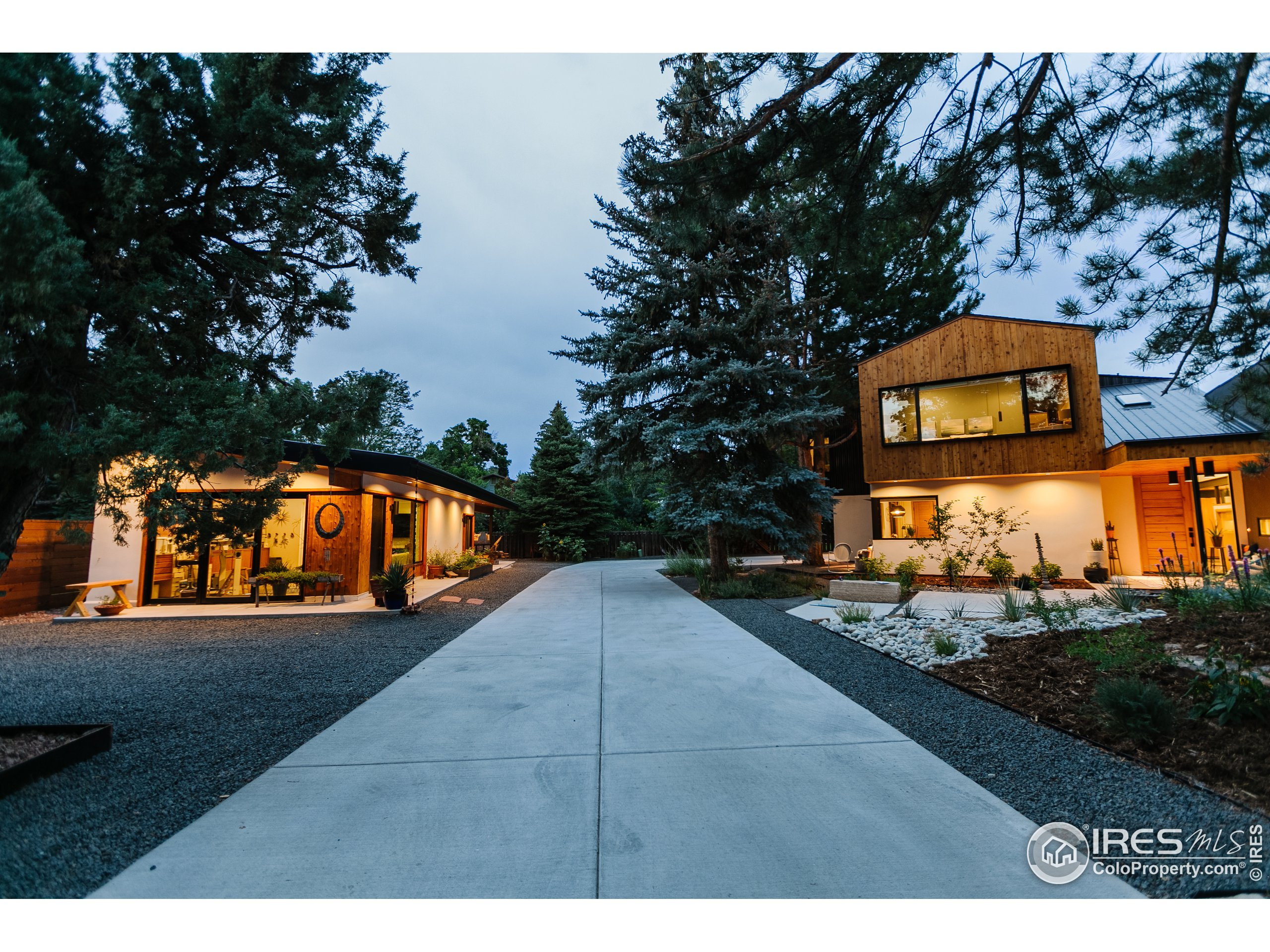 Long drive provides seclusion on this well appointed 1/2 acre lot.