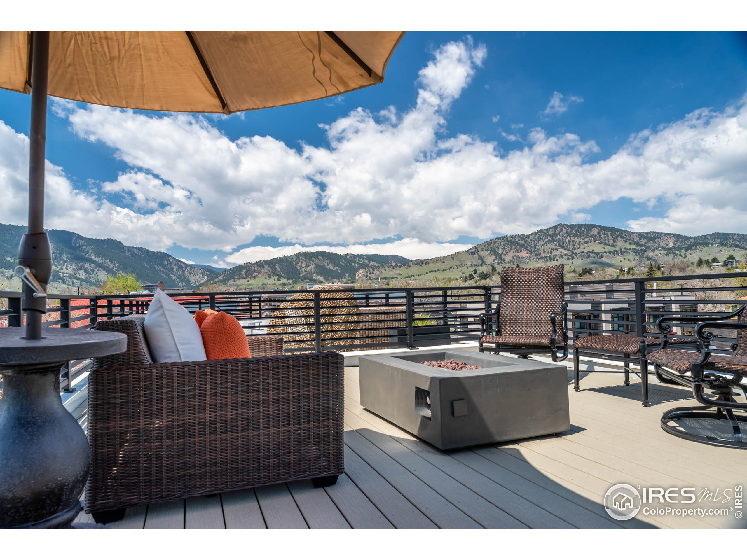 Upper Level Rooftop Deck with Firepit and 360 VIEWS