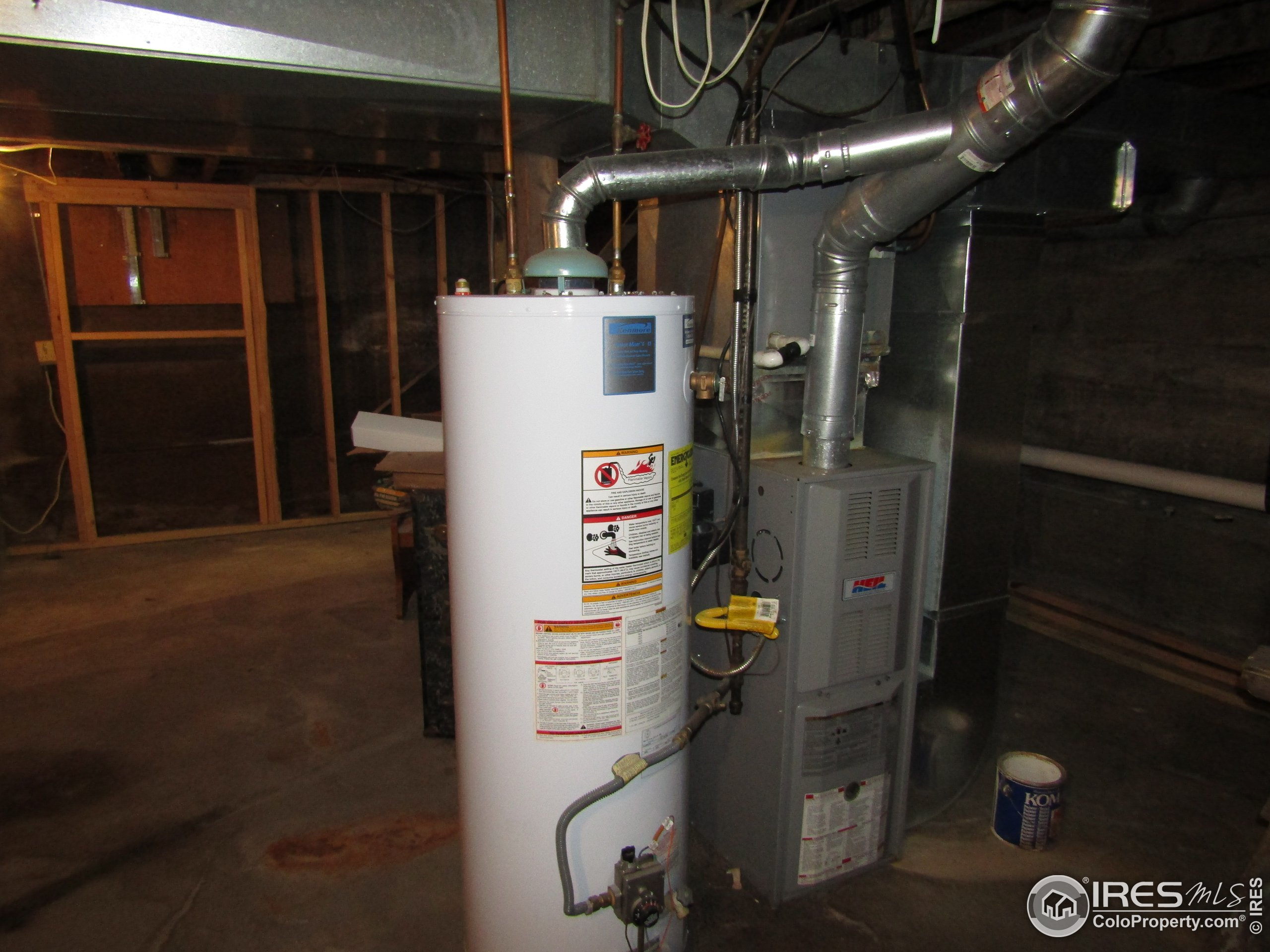 Water heater & furnace for unit 1