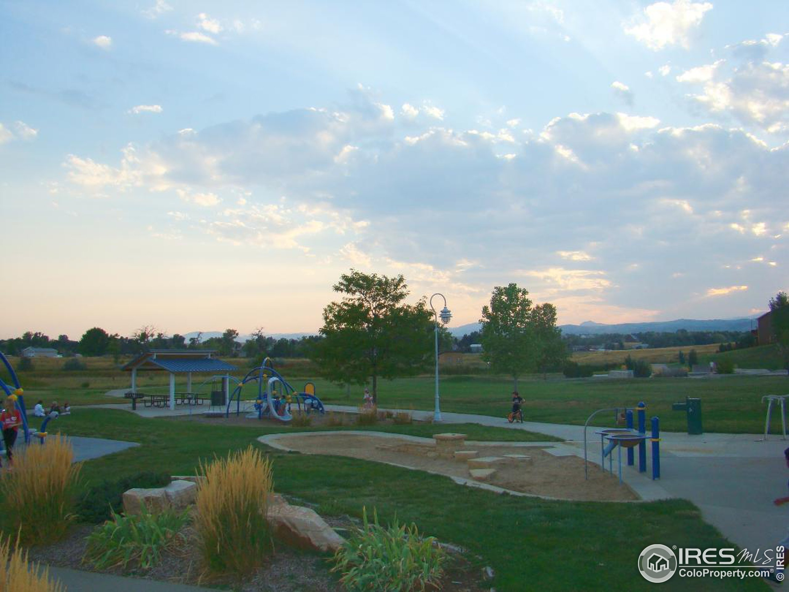 Evening at Water's Way Park, 2 minutes drive from the house