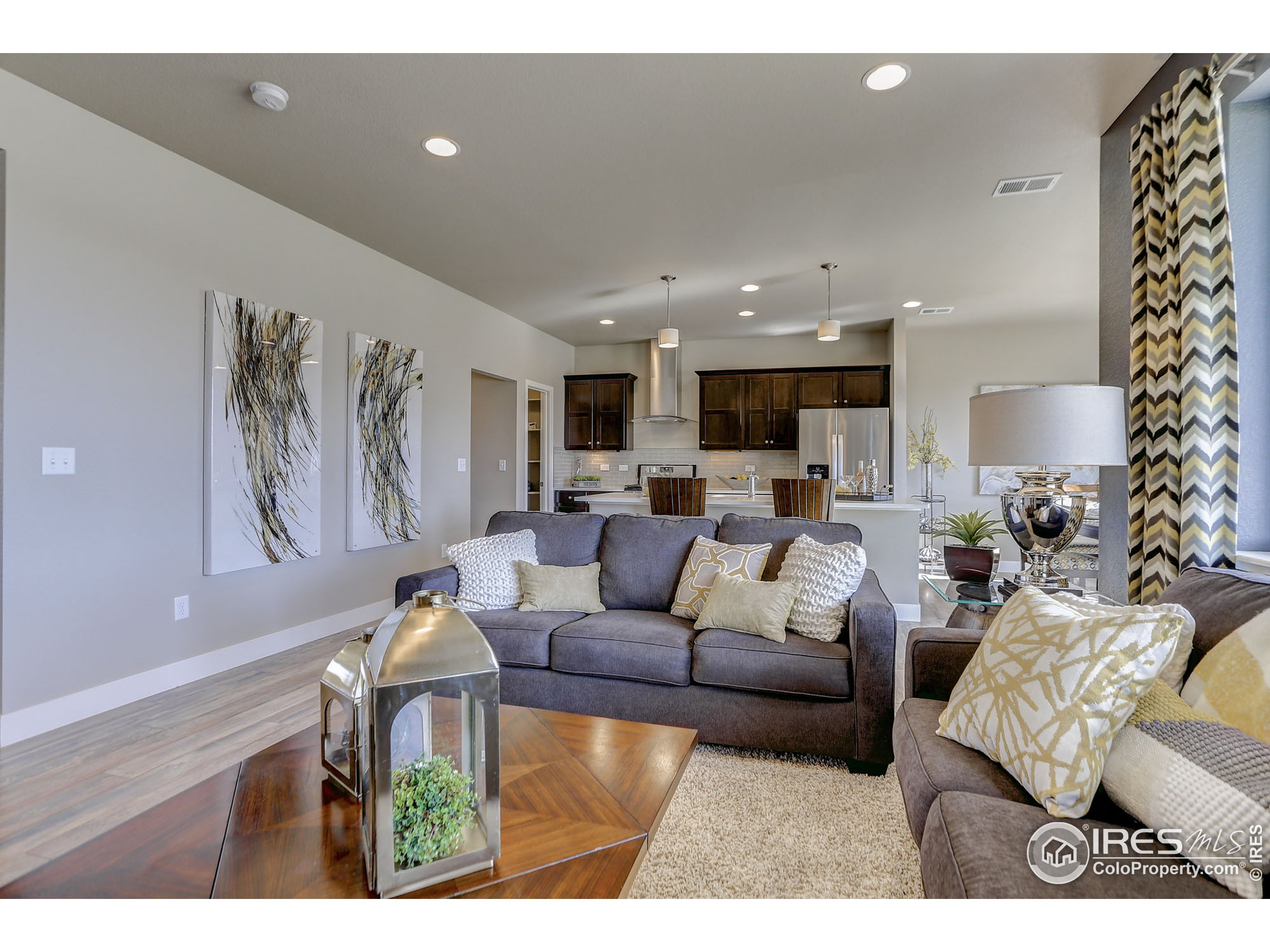 EXAMPLE PHOTO: GREAT ROOM OPEN TO KITCHEN & DINING ROOM