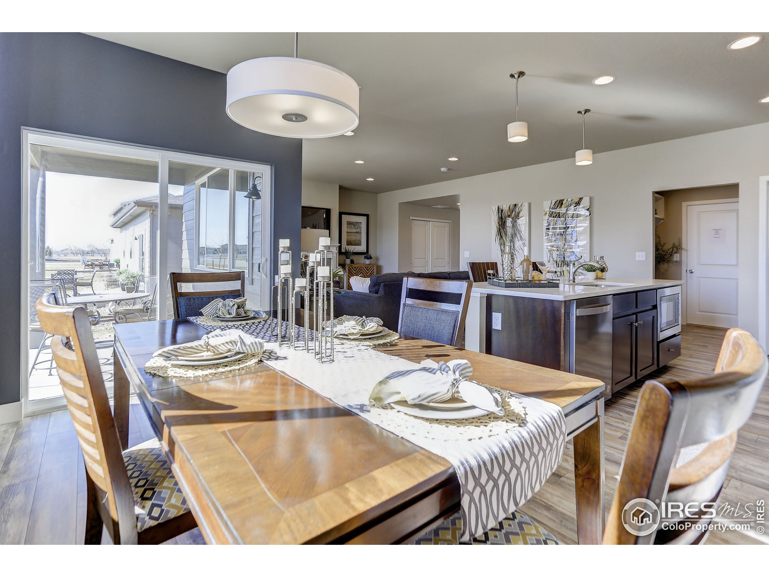 EXAMPLE PHOTO: DINING ROOM OPEN TO KITCHEN AND GREAT ROOM