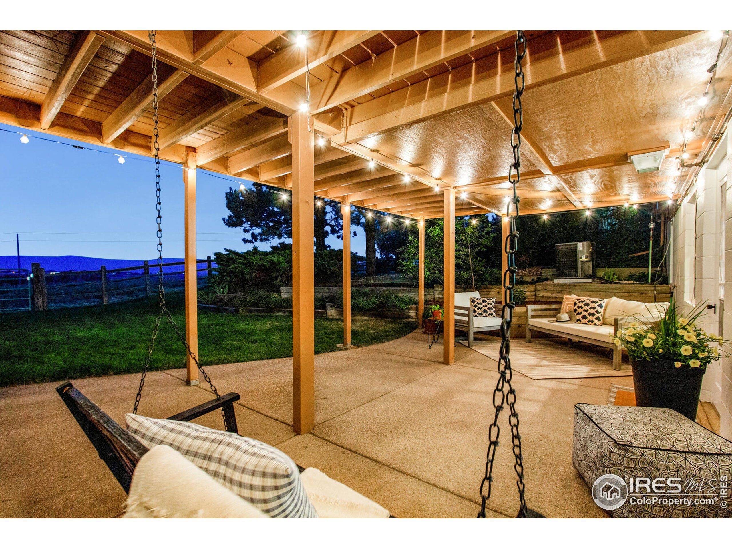 Expansive covered lower level patio - fully finished lower level - Walk-out basement - amazing views all area + swing included!  Enjoy your favorite cup of coffee!