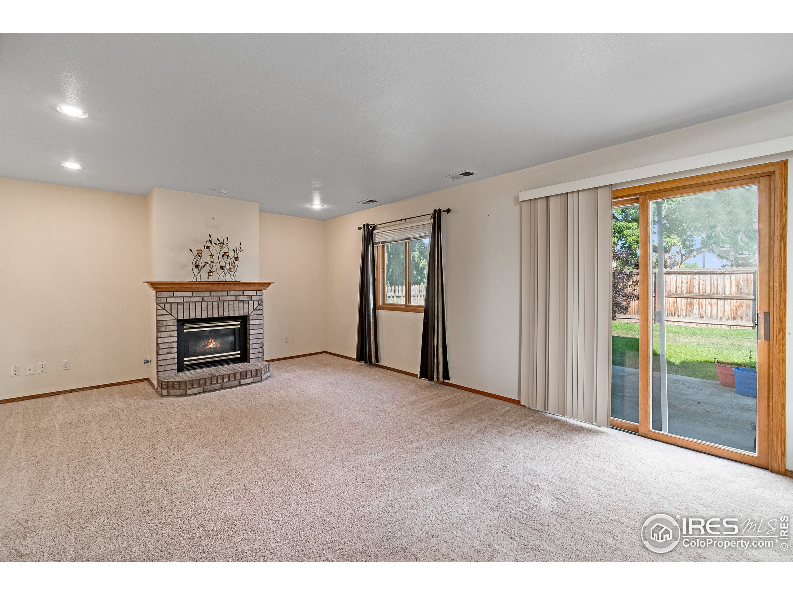 Lower walk out with Cozy Fireplace