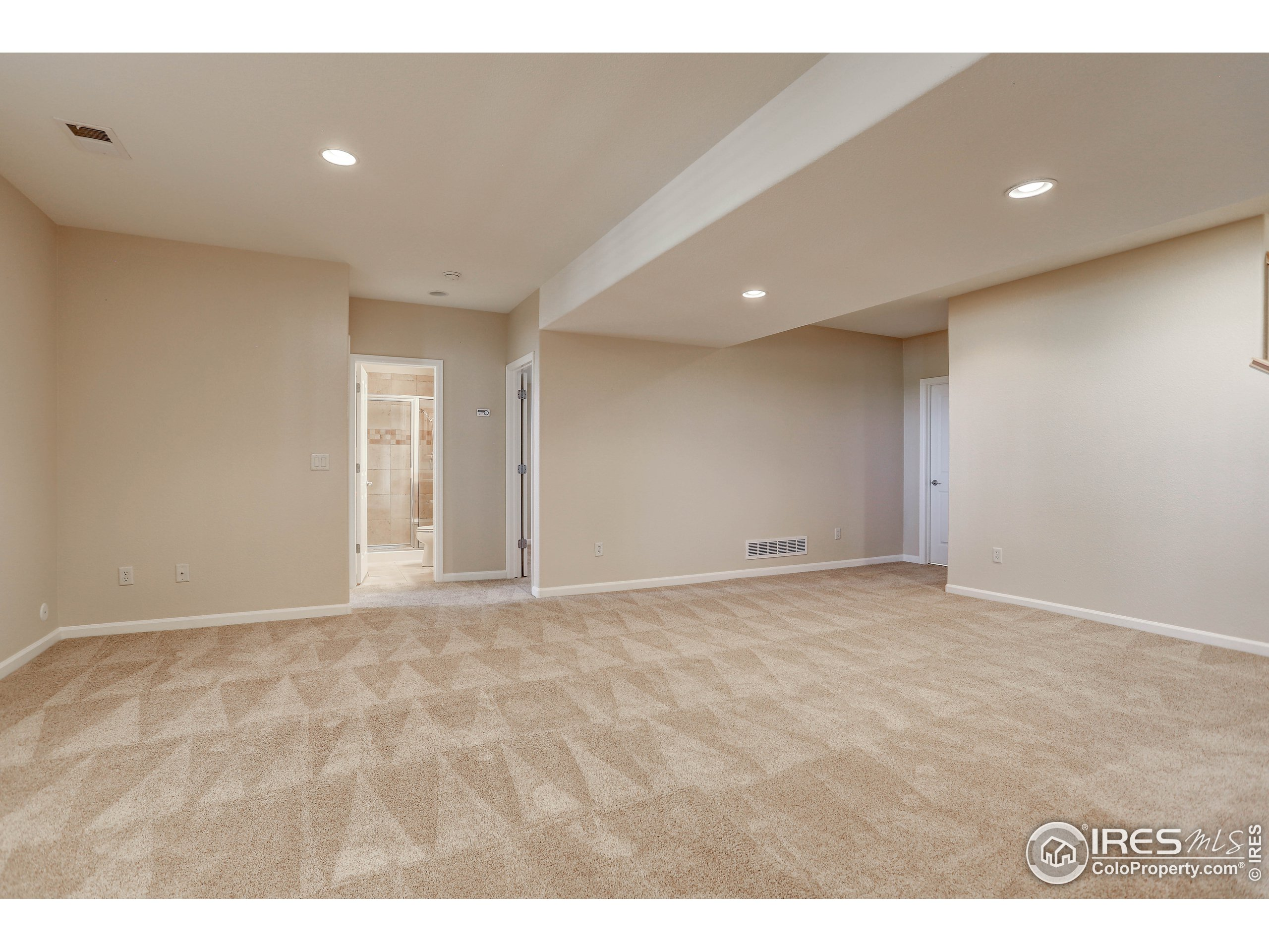 great room to basement beds and bath