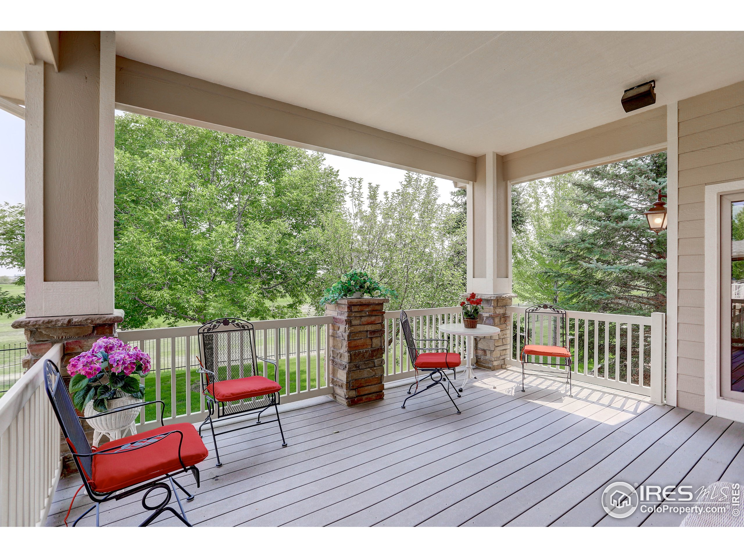 Yes! Sit and enjoy! 16'x 17' covered composite deck