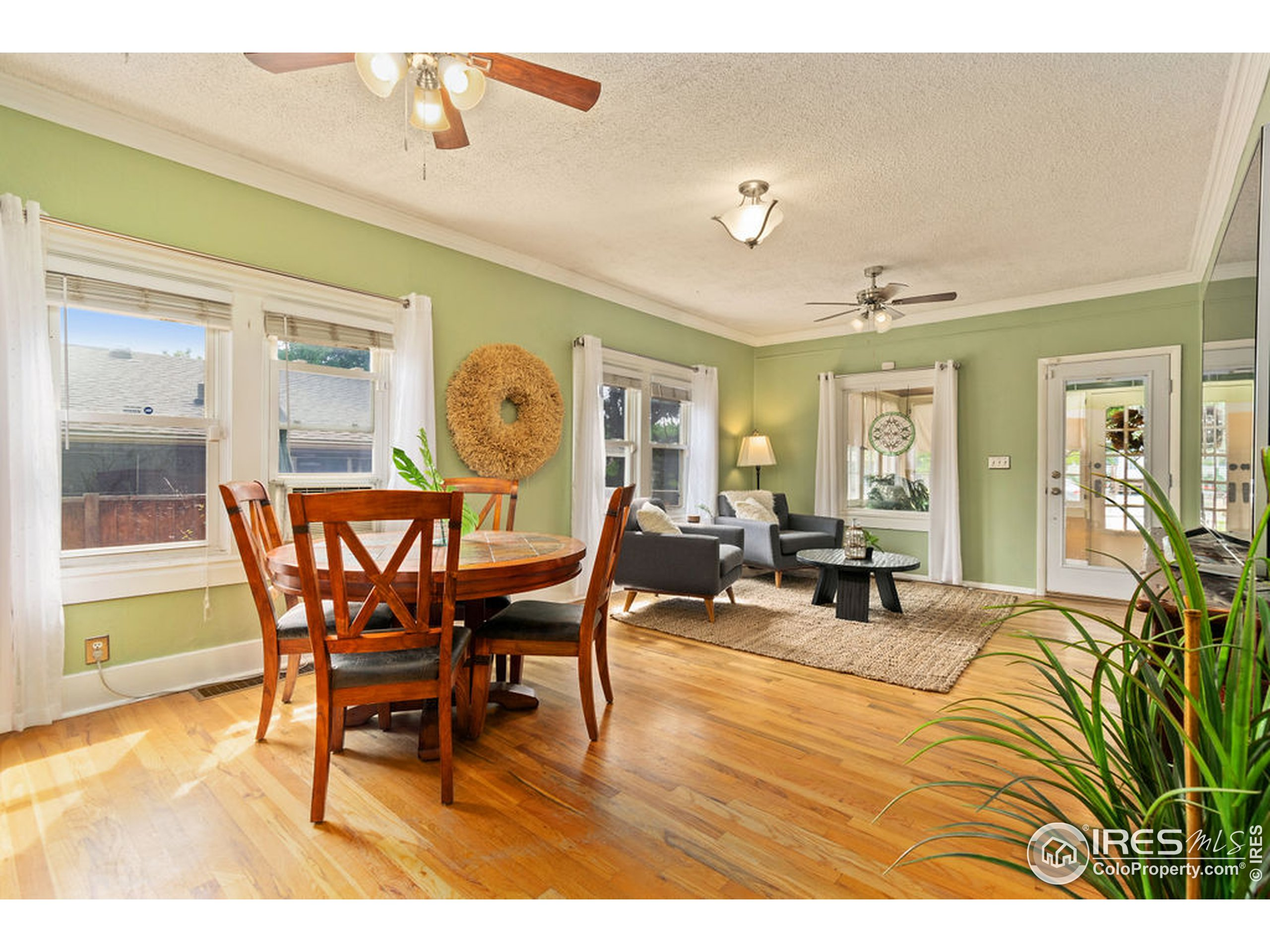 Beautiful wood floors throughout this home.