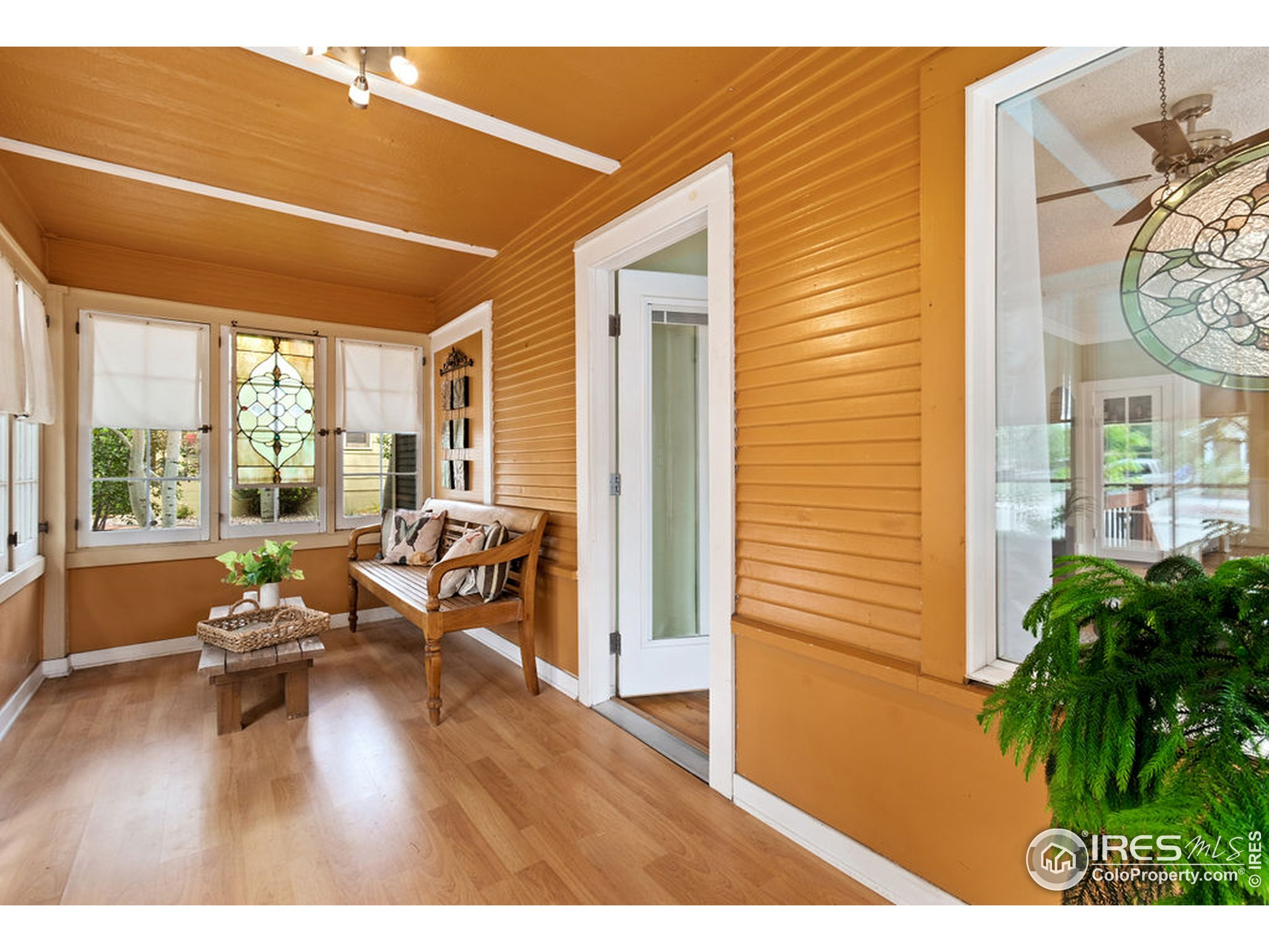 Fully enclosed front porch