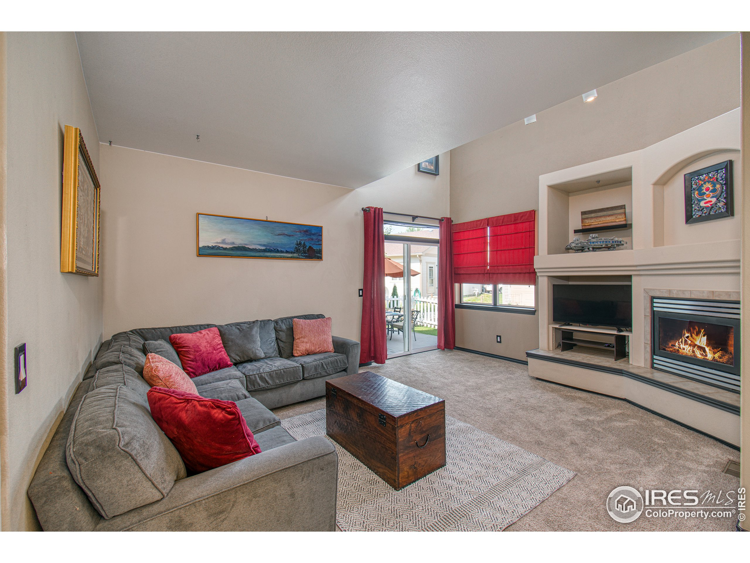 Living room opens to back yard.