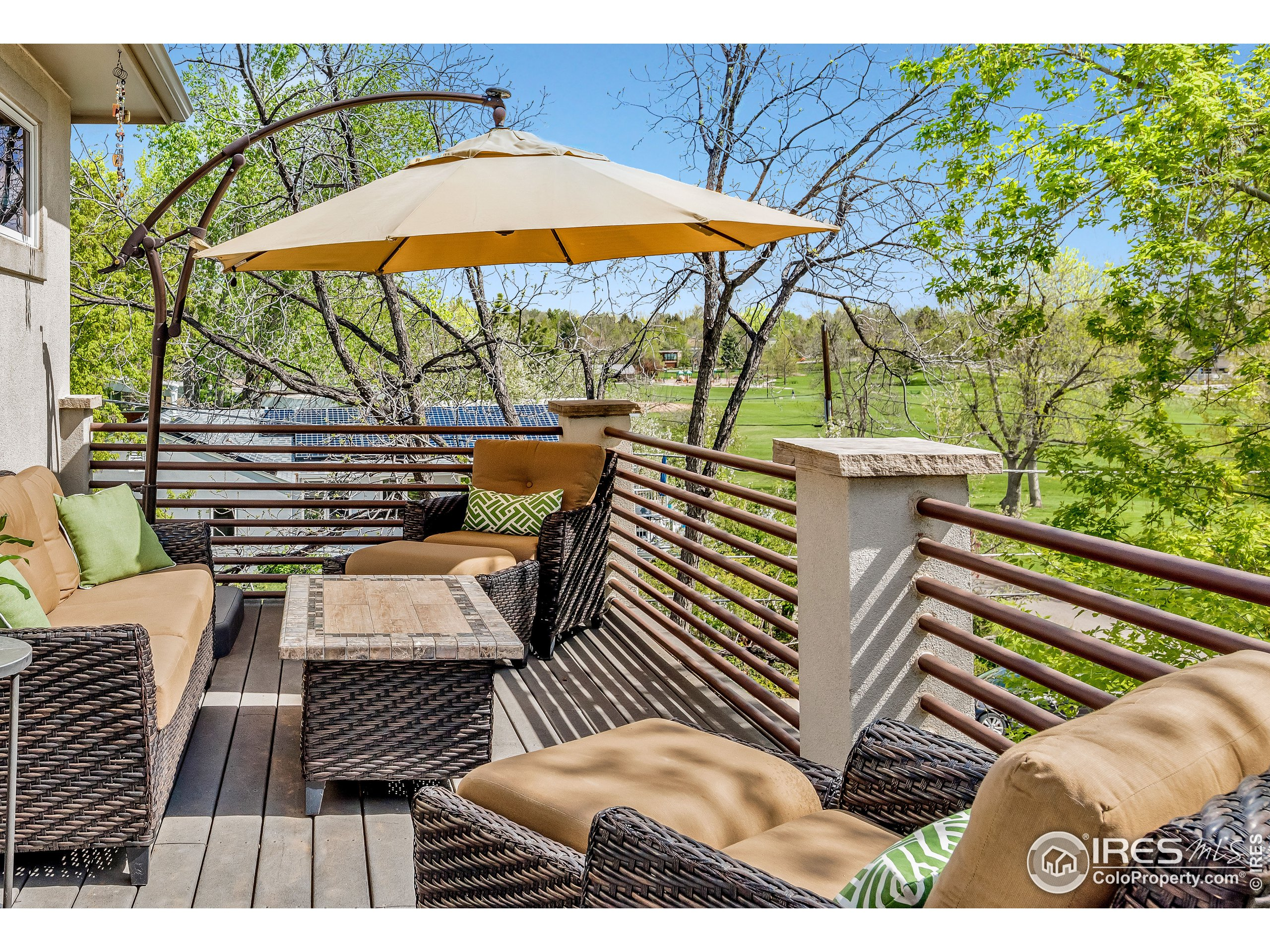 Deck with views of North Boulder Park