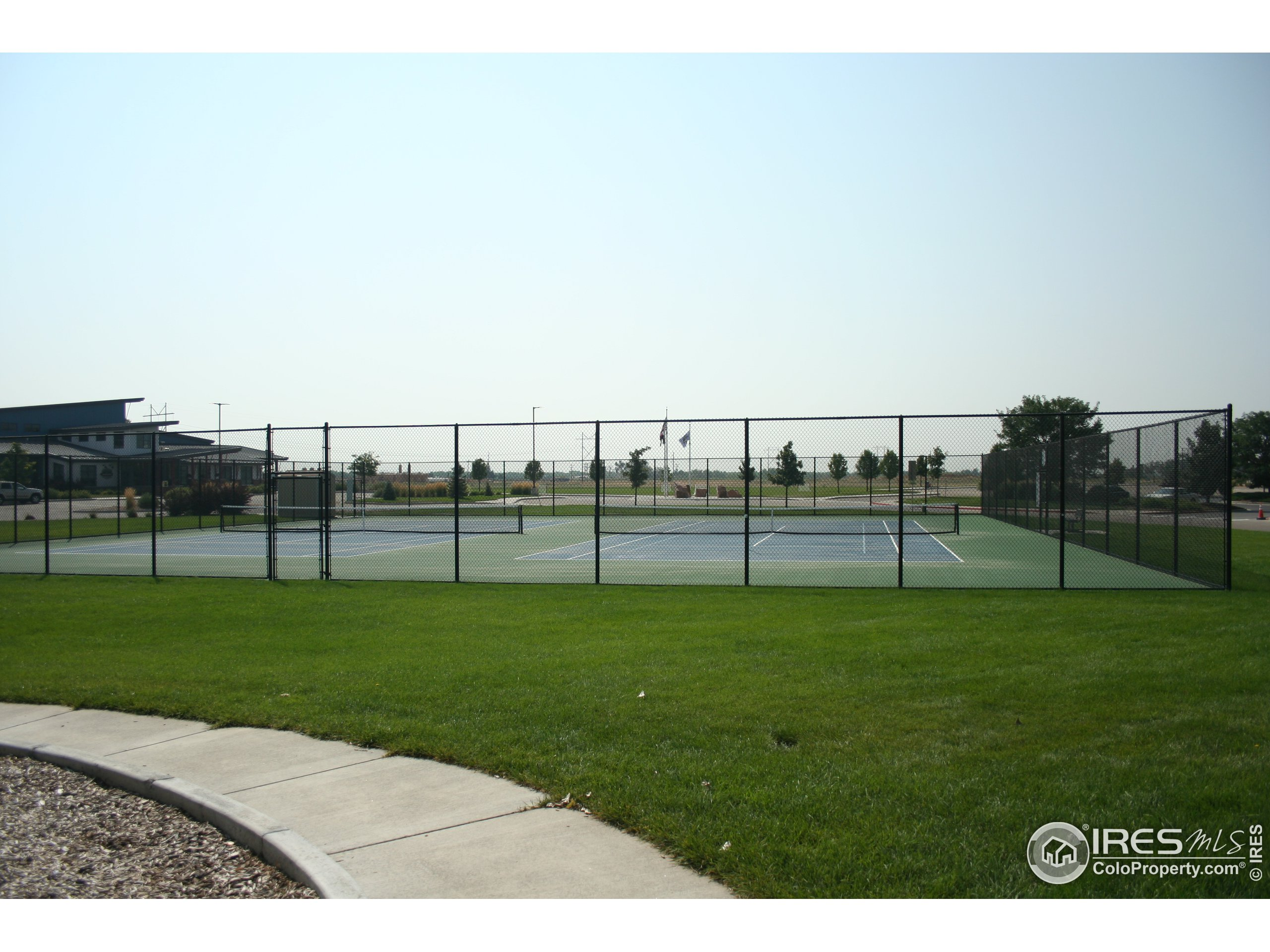 Tennis courts within walking distance