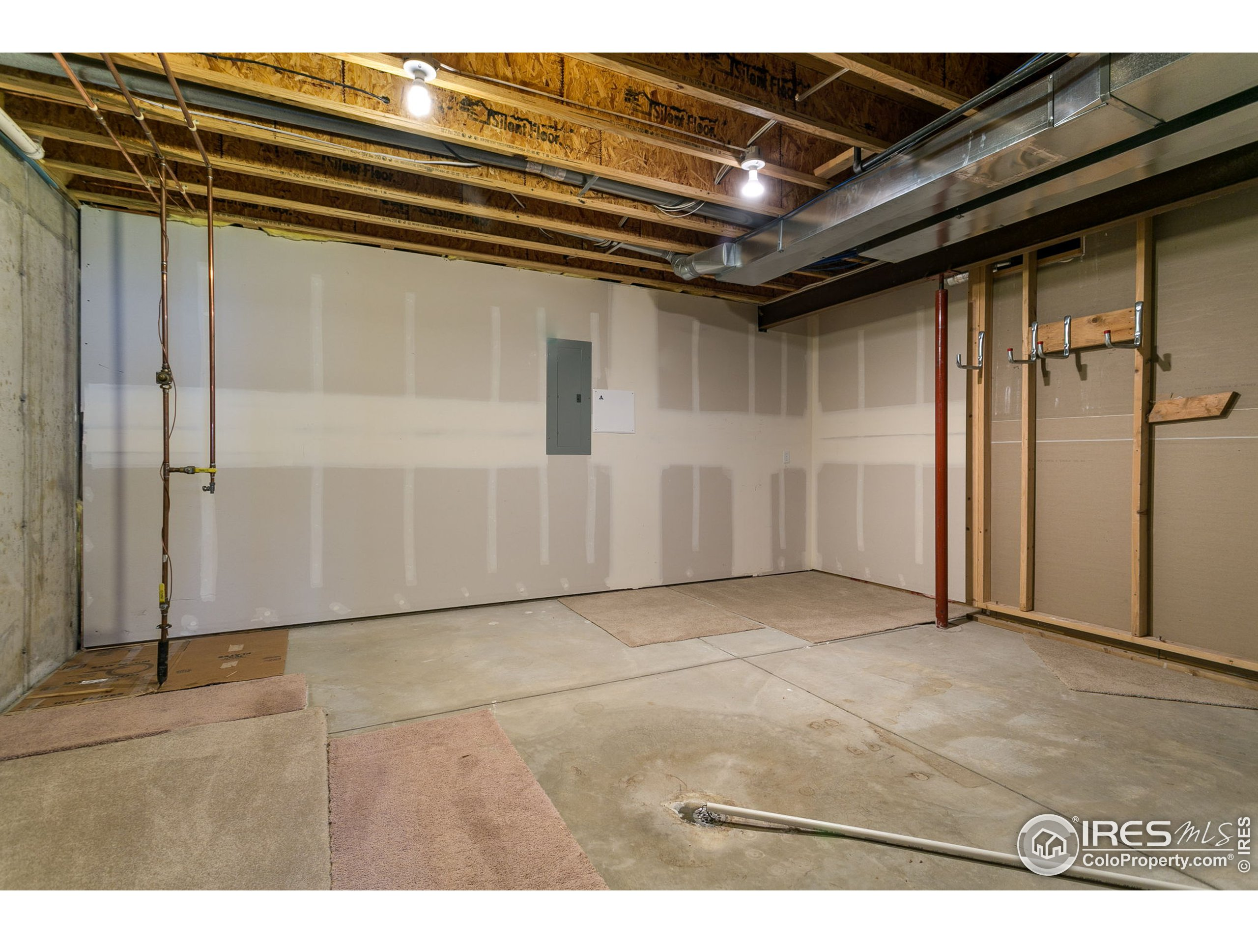 Unfinished area and mechanical room