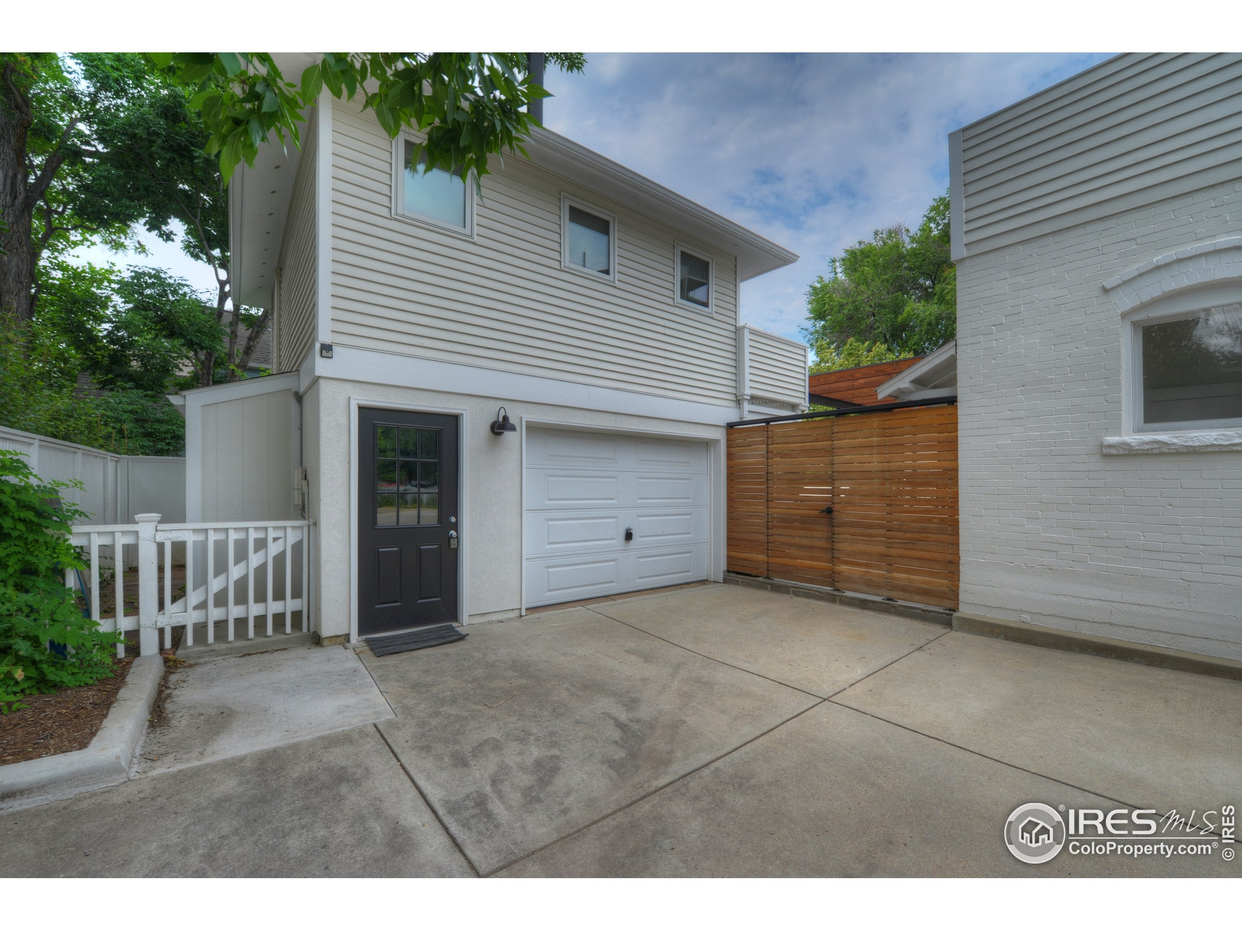 detached garage and above private workspace