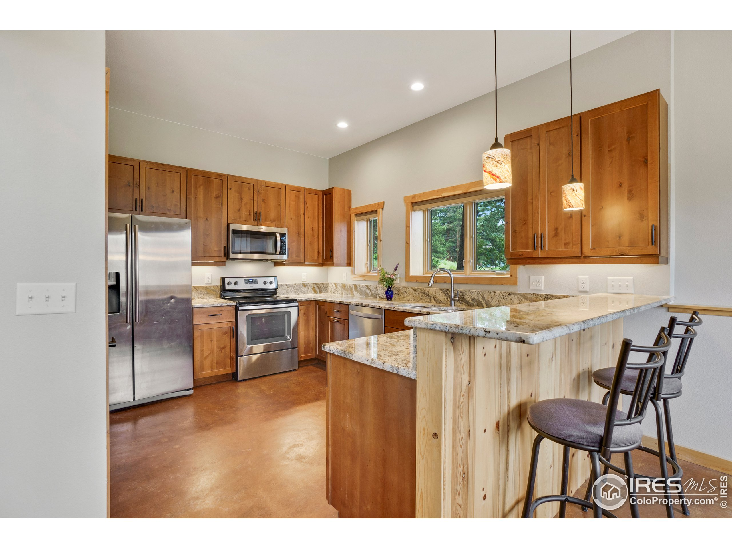 New construction on this mountain modern kitchen
