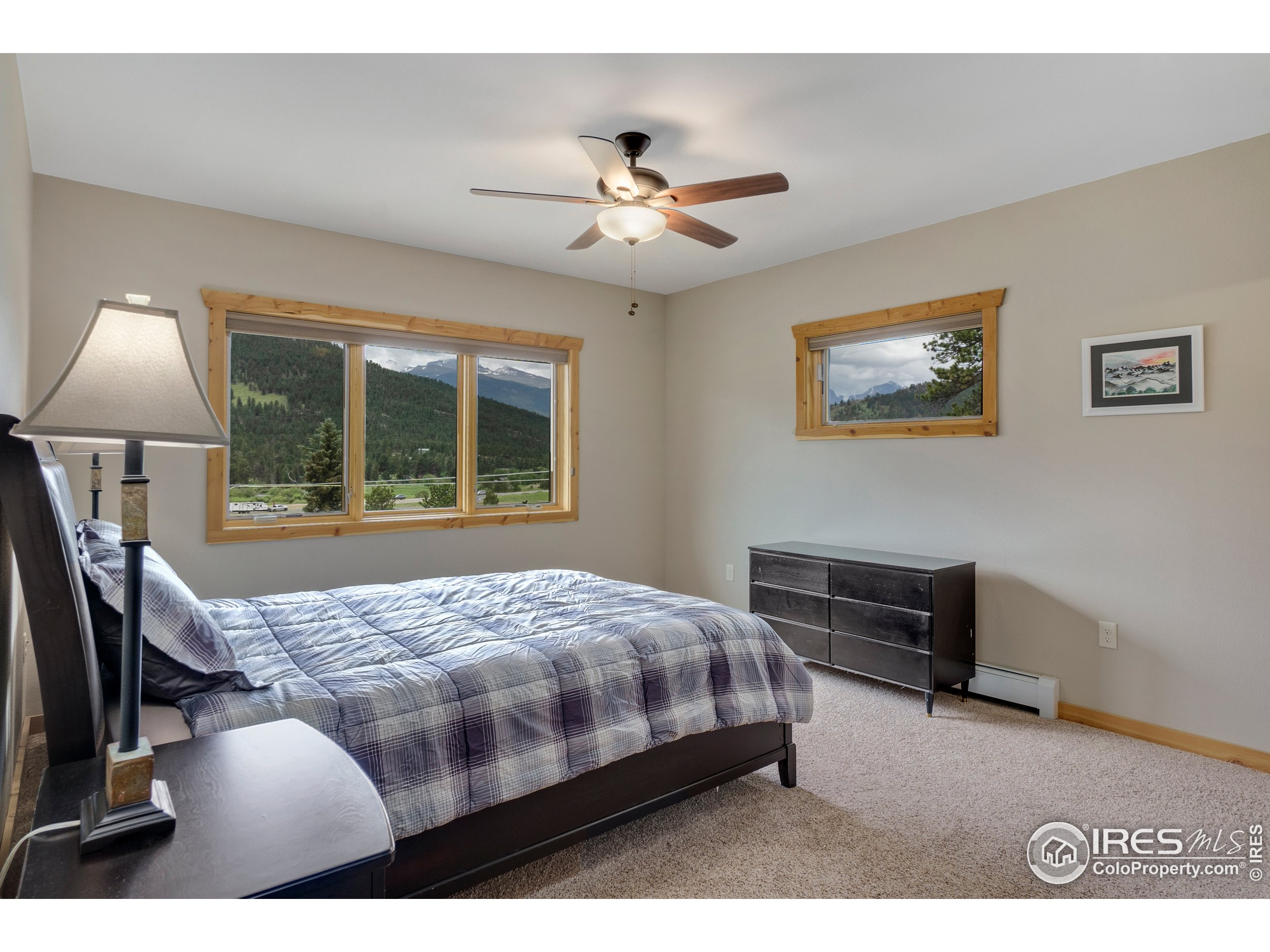 2nd bedroom with Continental Divide views from upstairs