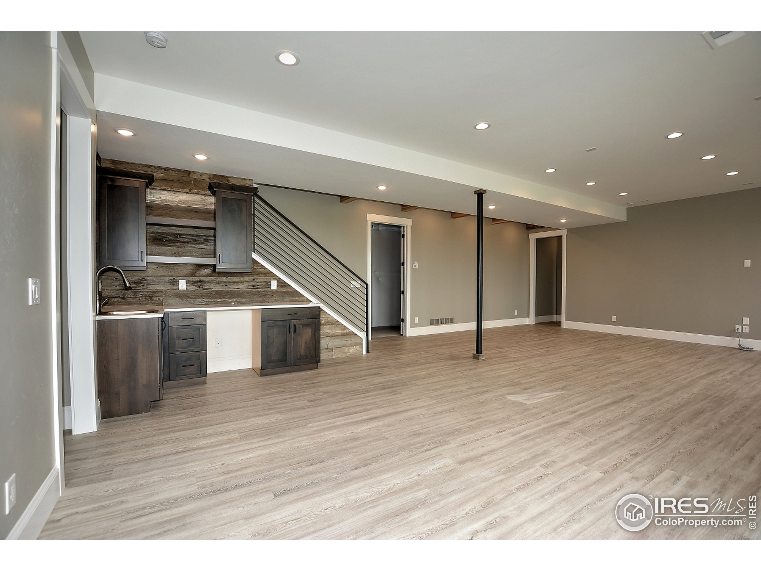 To be Built - Photo of a Past Build - Basement Rec Room and Wet Bar