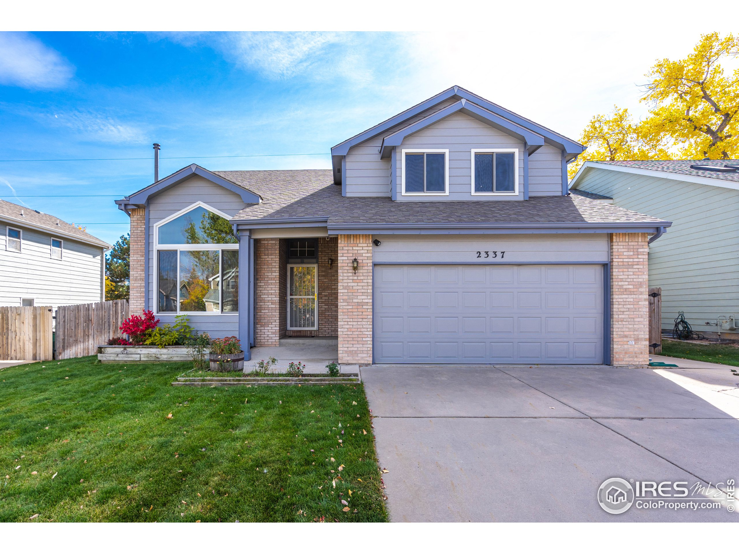 This exceptional home has been well cared for & purposeful upgraded. Upgrades include 4.93 kW Solar System, new: furnace, H2O heater, active radon, A/C & humidifier, SS appliances, exterior paint, &  carpet. Leaving the cosmetic touches ready for your style while providing the necessary & costly updates for a home. Enjoy the extended patio for entertaining w/style! Focused landscaping provides privacy, shade, & sound buffer in the lrg, fenced, irrigated yard! Walking through the front door, be sure to note the pellet stove, vaulted ceilings, & new carpet. Enjoy the southern exposure as you move to the kitchen, dining rm, & family rm. Turn on your gas fireplace & watch the snowfall! Step upstairs & find 4 sizable bdrms & full bath, & owner suite w/ luxury bath, walk-in closet & vaulted ceilings. But that is not all; 1080 sqft awaits you in the basement w/ bath rough-in. Perfect location for CO living close to parks, trails, bike paths, restaurants, & Horsetooth Reservoir.