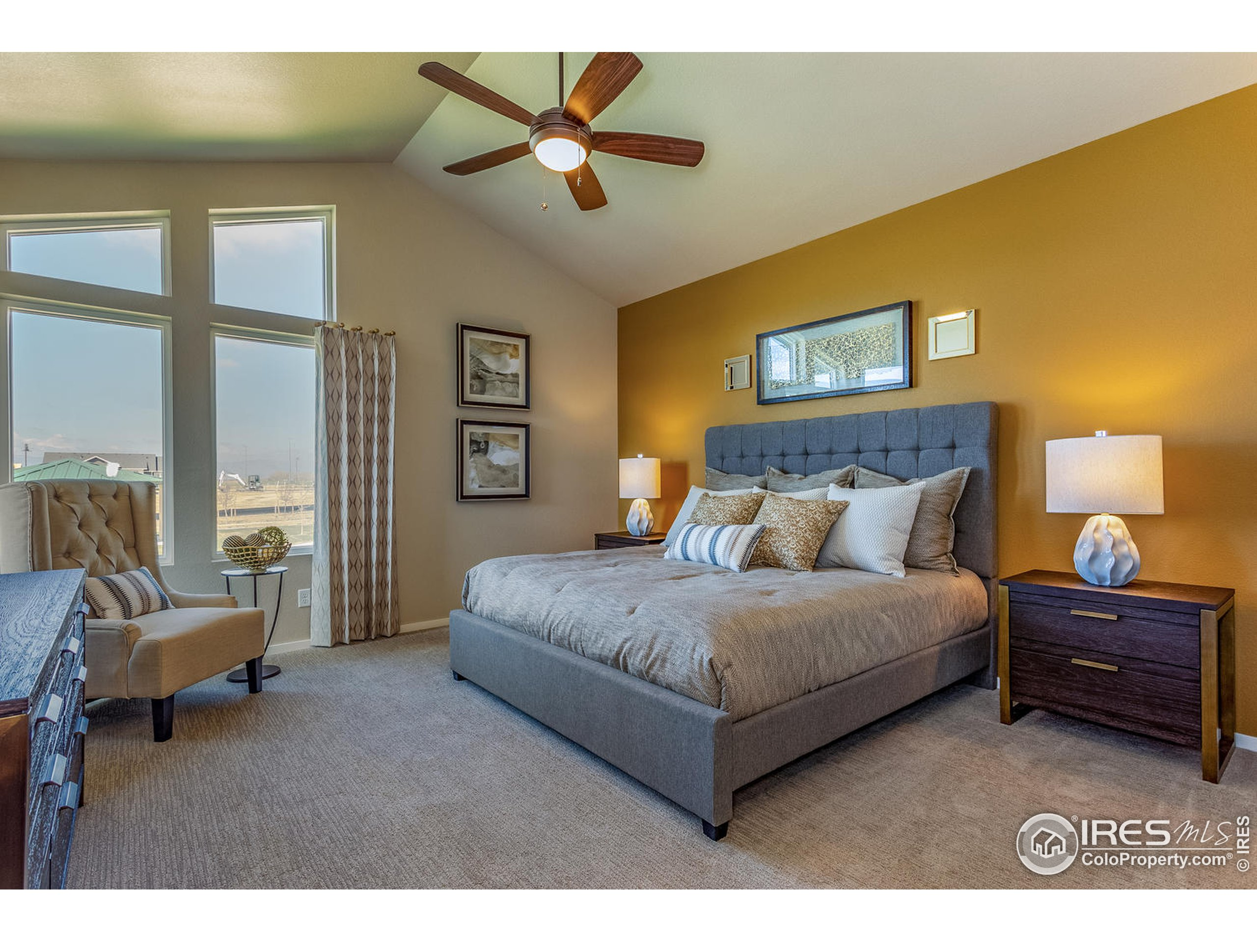 EXAMPLE PHOTO: MASTER BEDROOM WITH VAULTED CEILING
