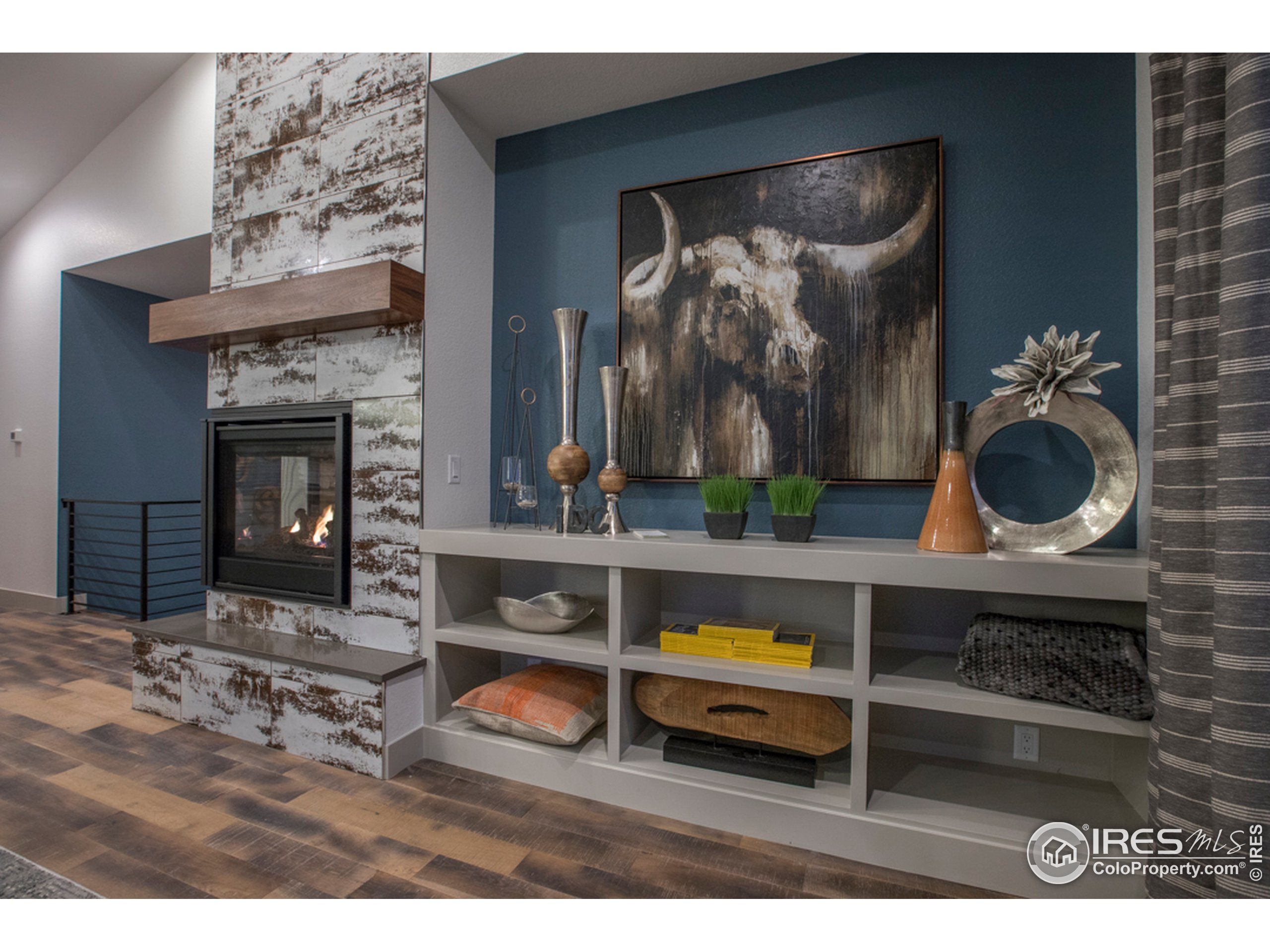 Fireplace wall in Great Room
