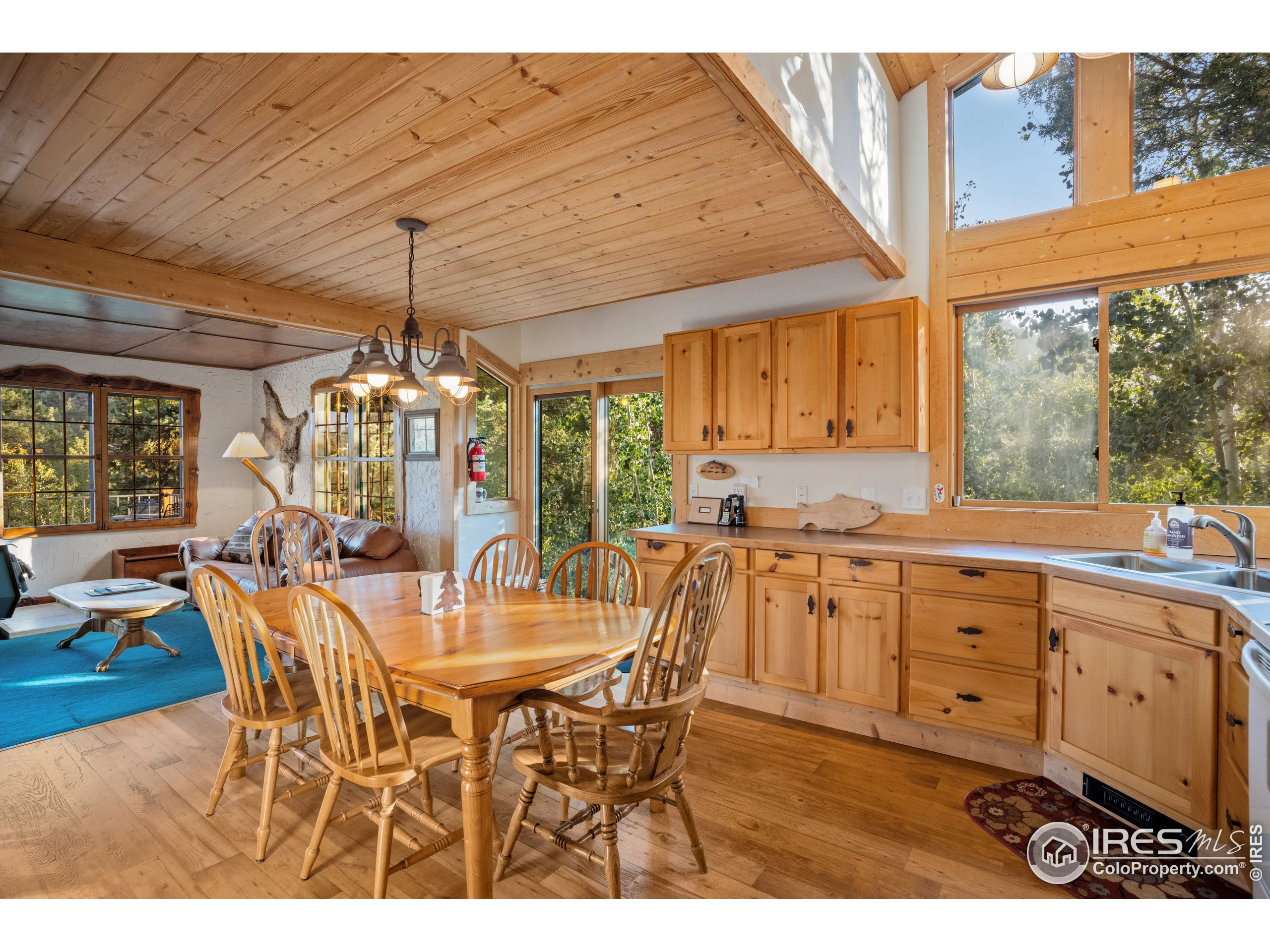 Gorgeous Pine Cabinets in Main Cabin