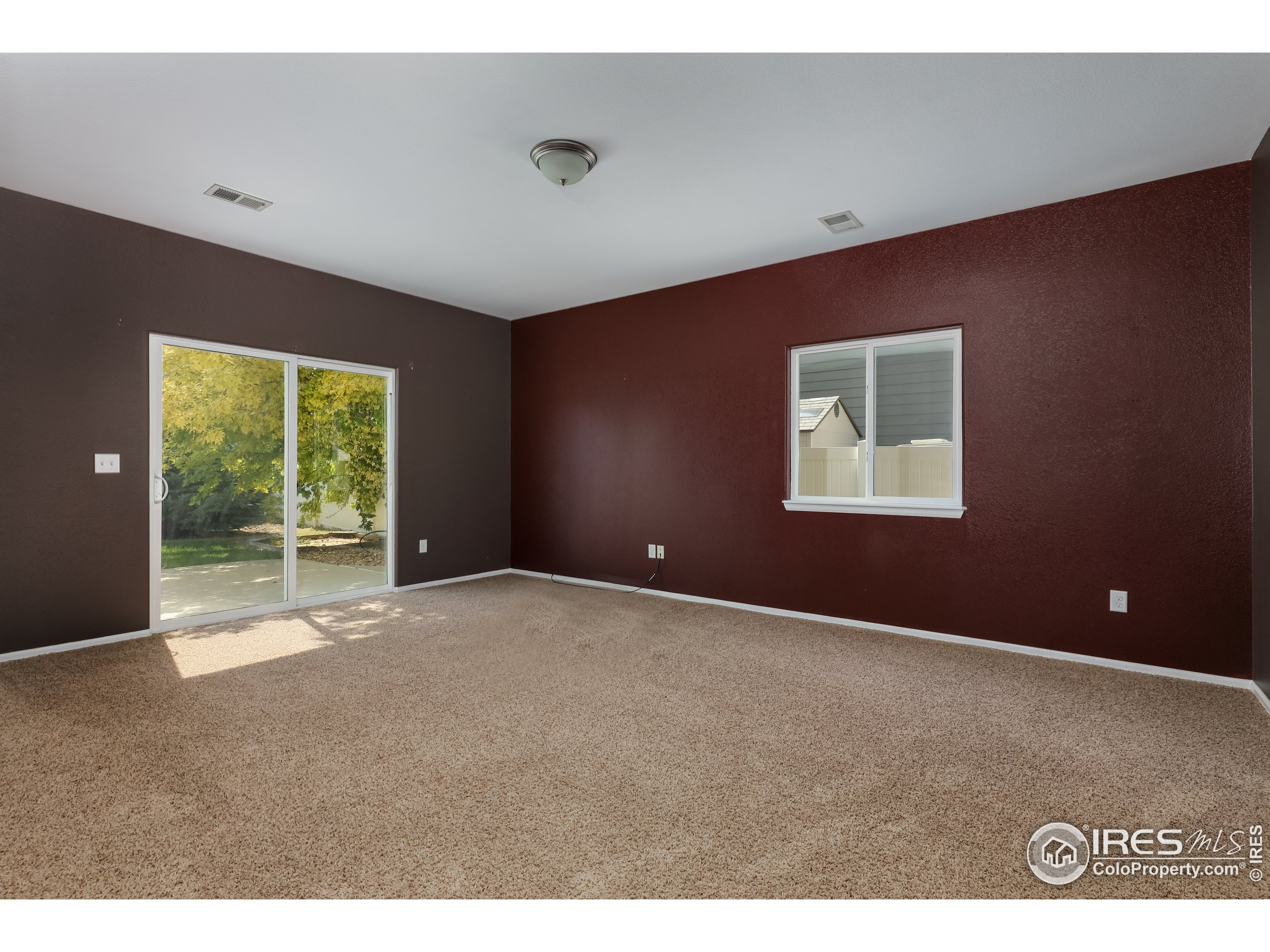 lower level walkout great room