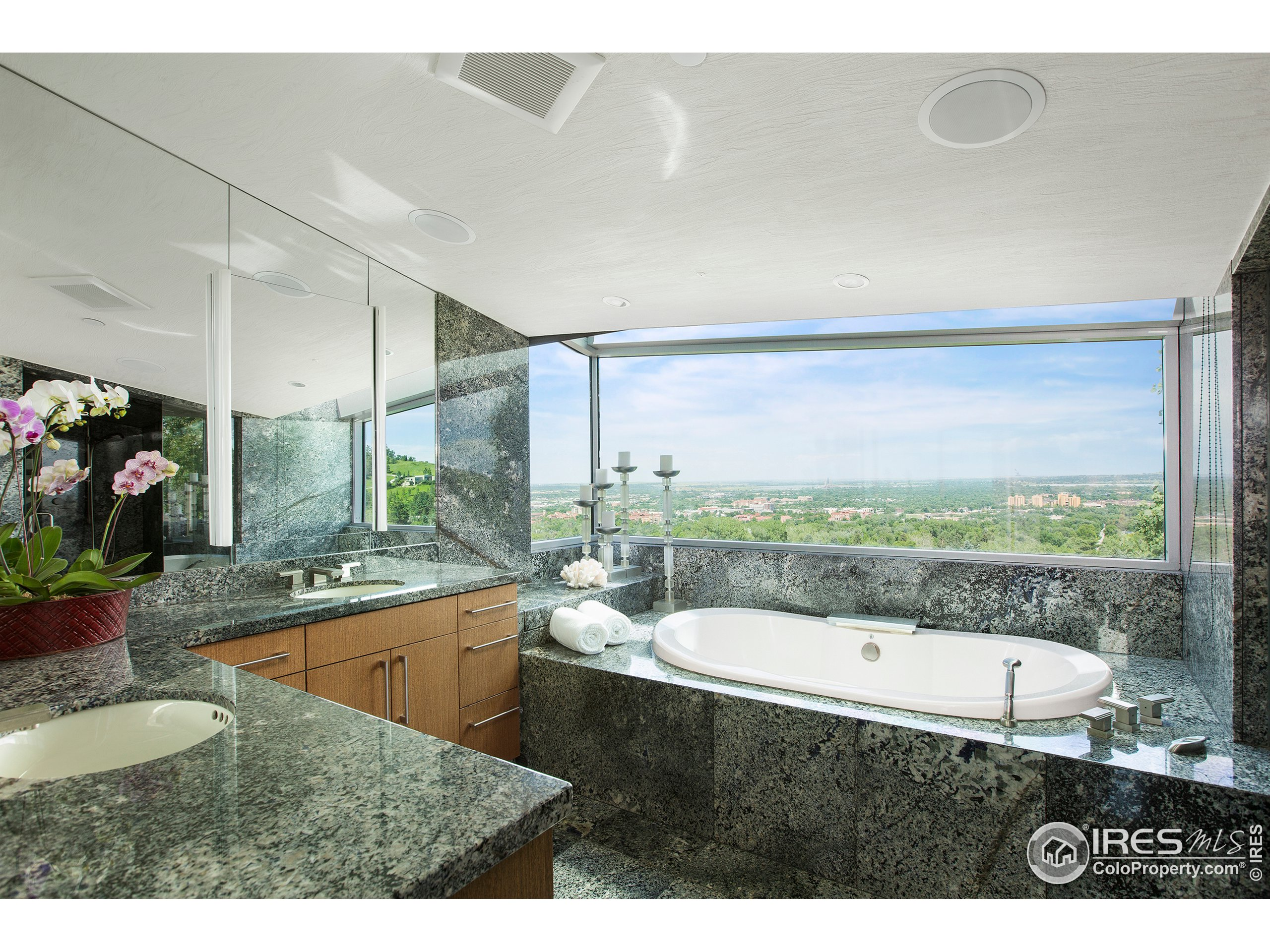 Primary Bath with Amazing East Views All The Way to Denver