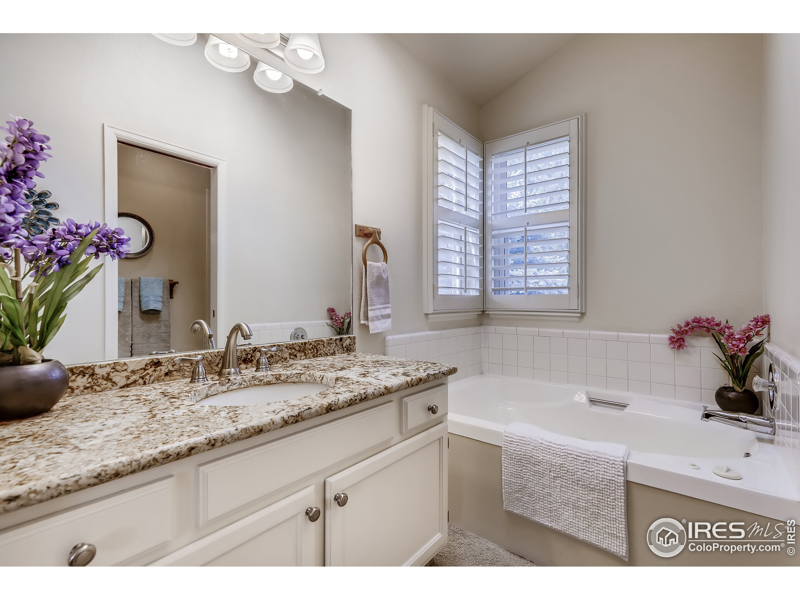 Master bath with jetted tub.