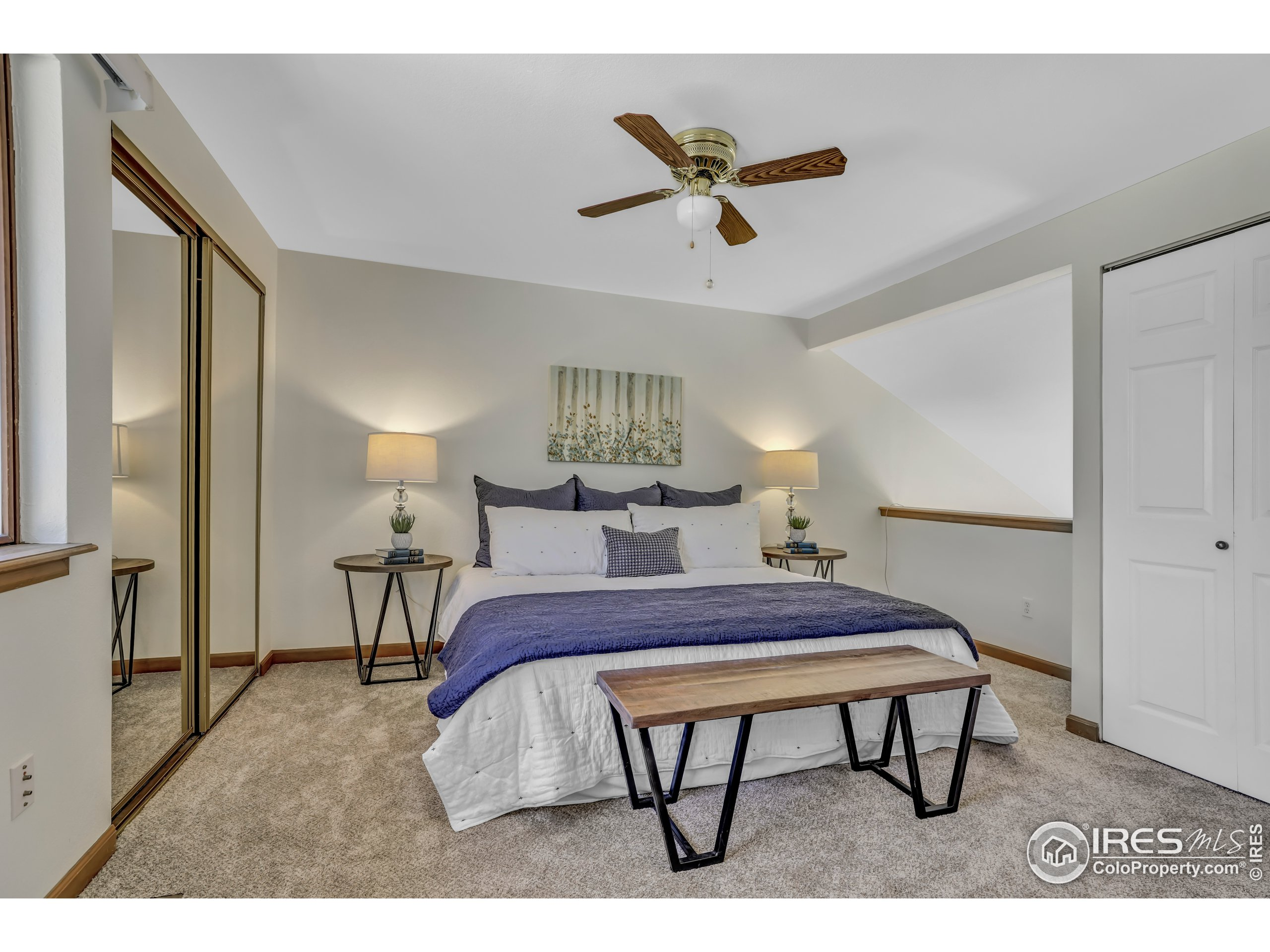Spacious Owners suite and 2nd bedroom upstairs