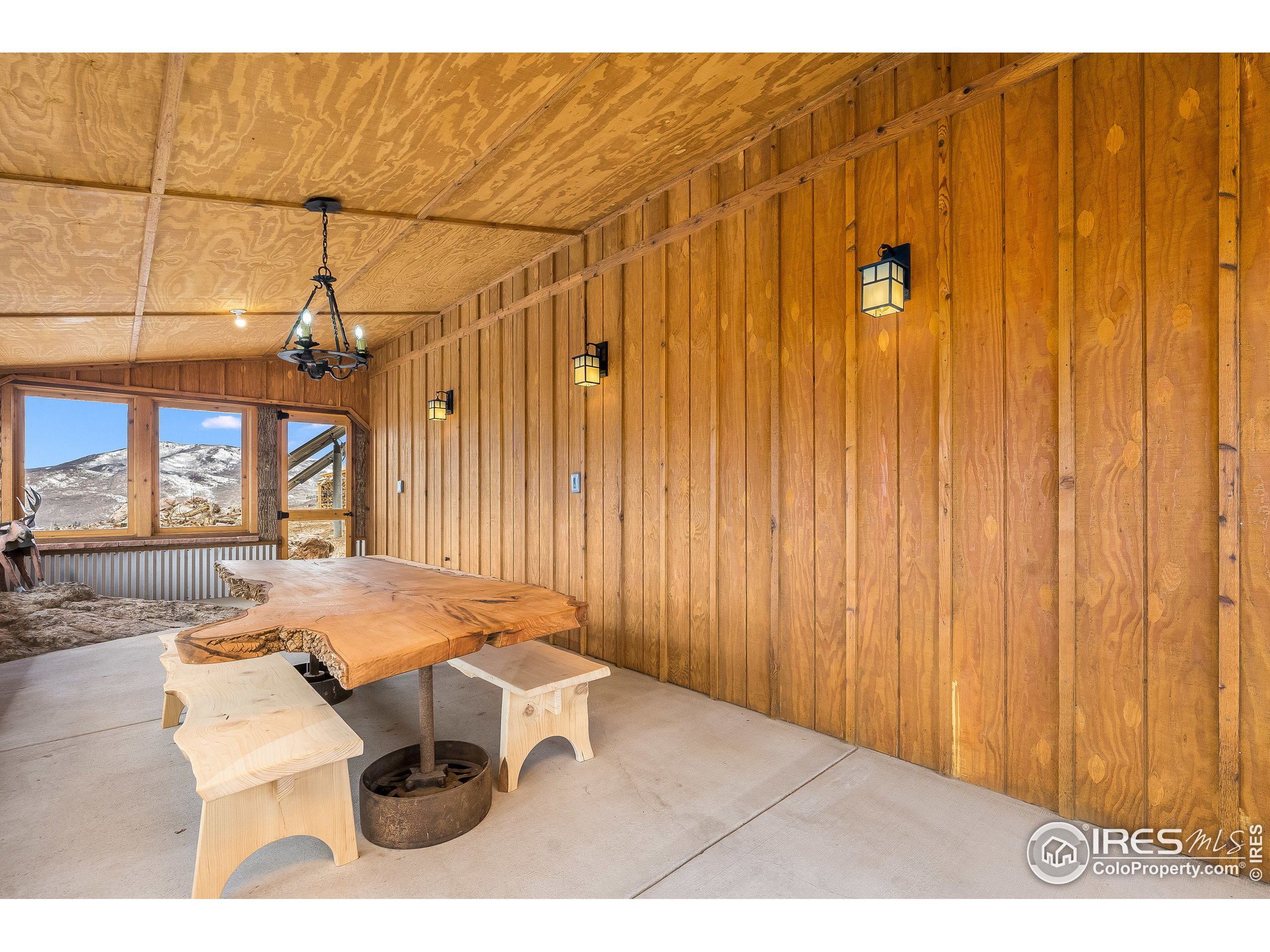 Screened-in Porch with Custom Table