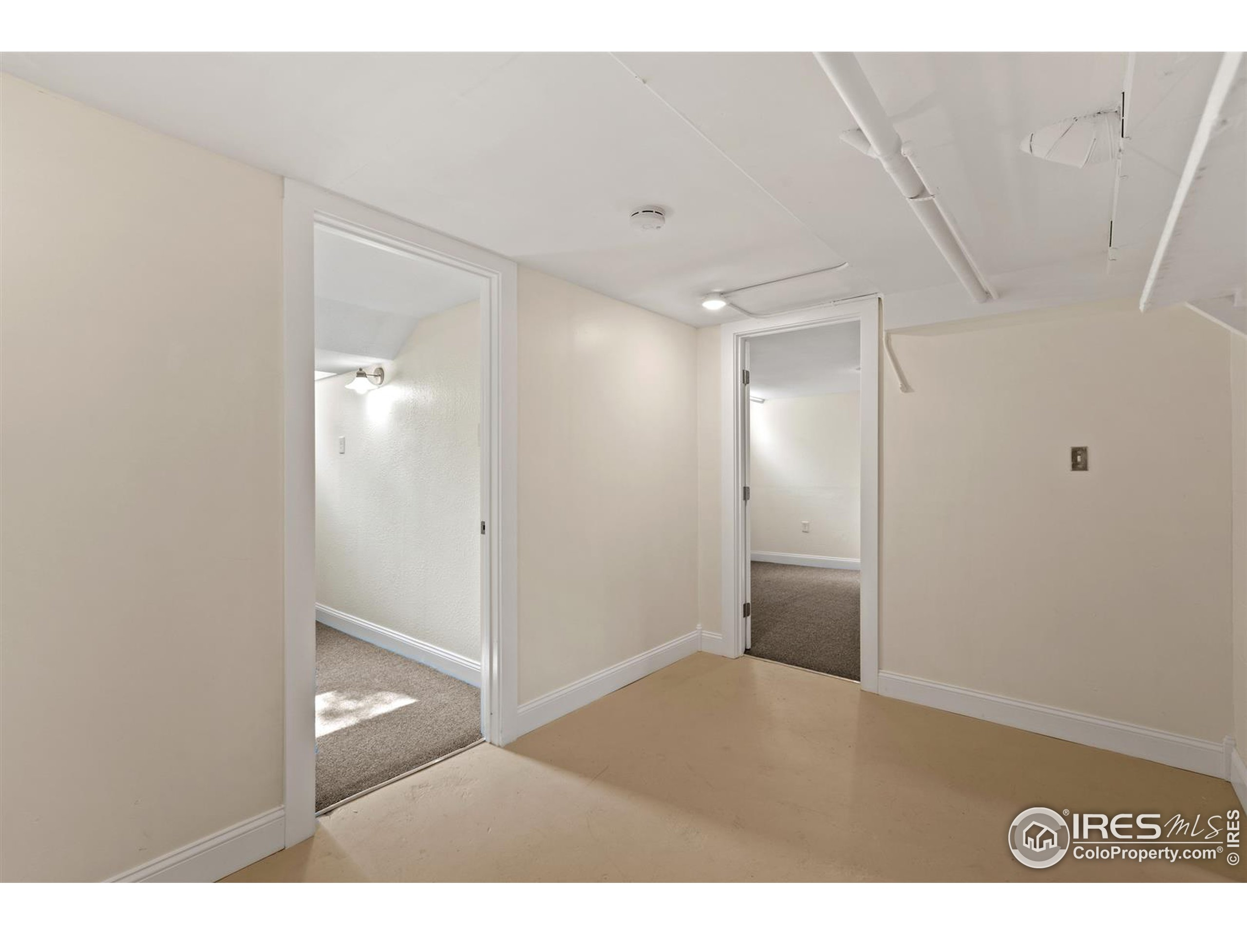 HUGE laundry room with space for a future bathroom