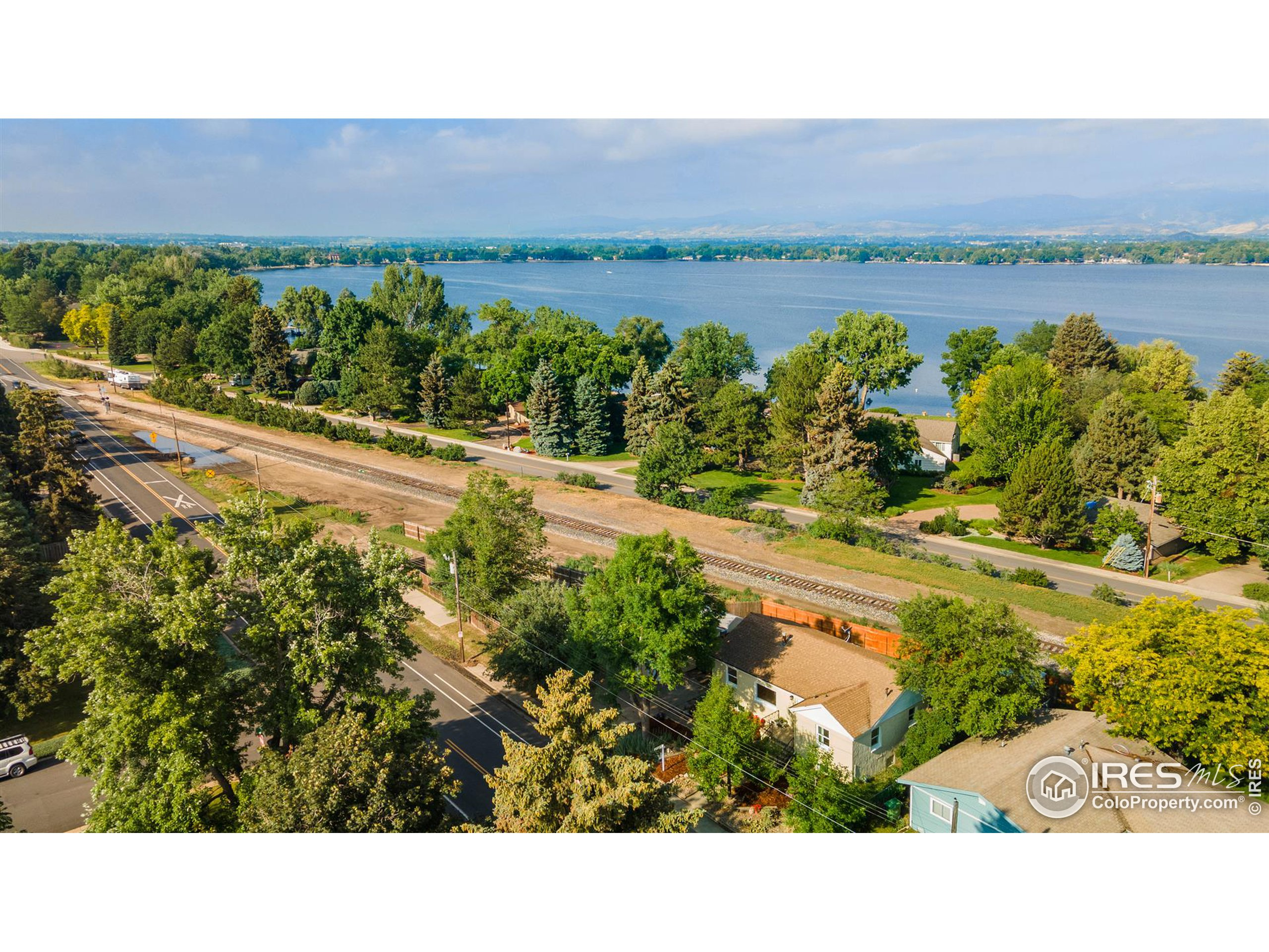 Right across from the lake and million dollar homes!  Incredible central Loveland location.