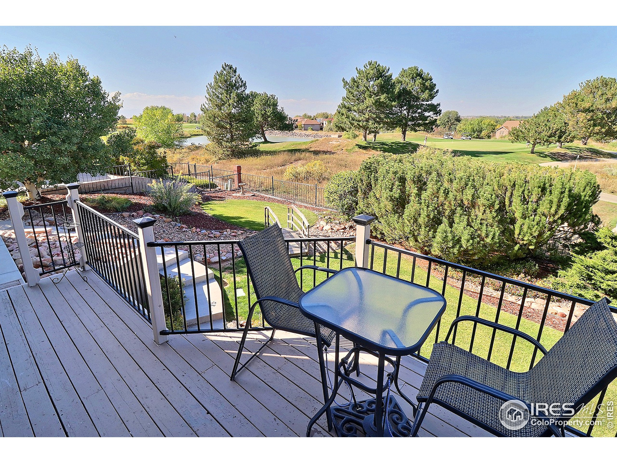 Sit on Your Deck and Enjoy Watching the Golfers