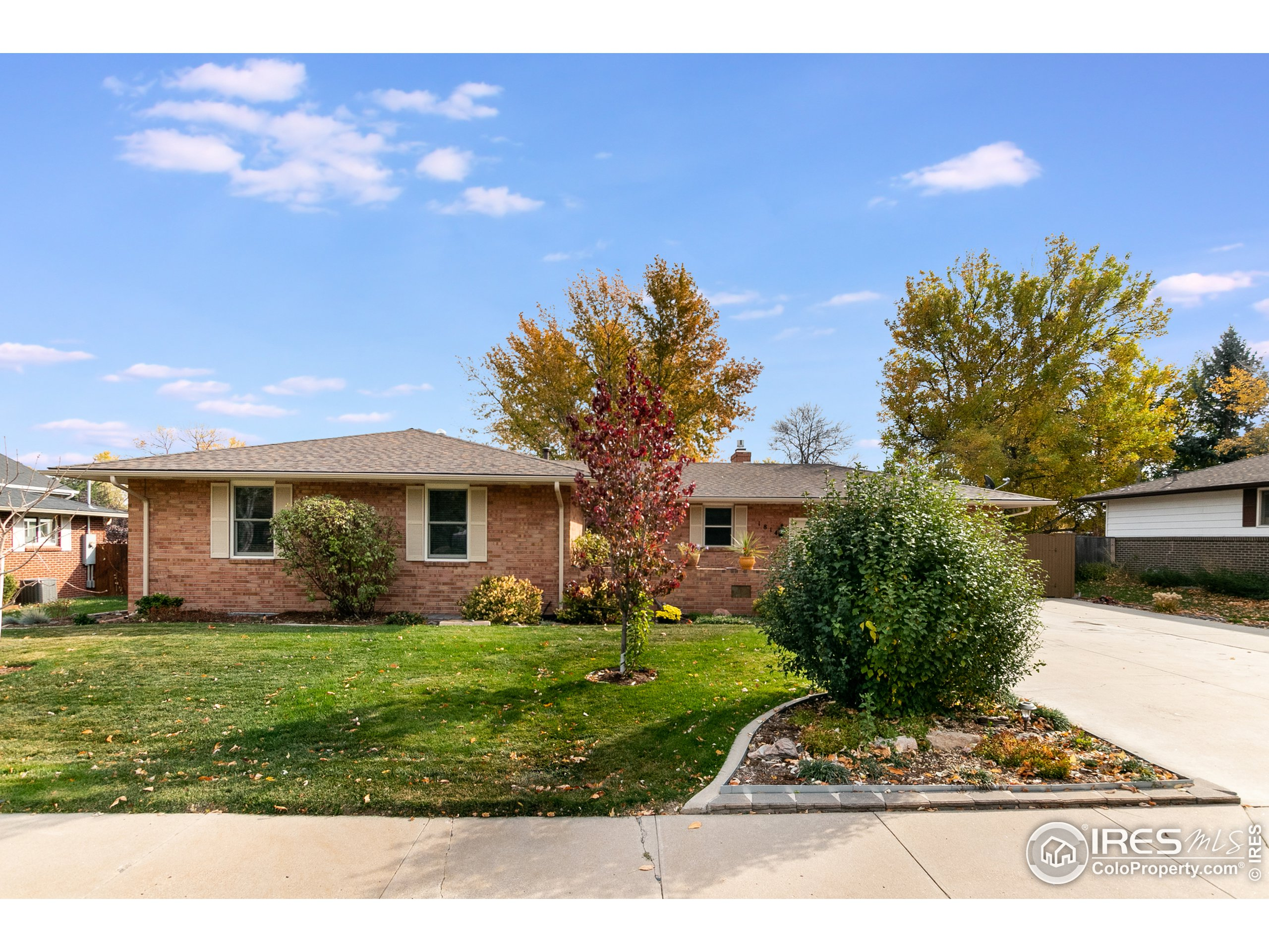 Beautifully maintained ranch home in the heart of Loveland. New Furnace in 2020. Roof 2 yrs Old. Kitchen is open to the living room with Gas Fireplace & Dining Room. Walk out to the sunroom, sip your coffee & enjoy the 2 patio's in the landscaped back yard. The oversized Owners Room has seating area, double sinks & 2 large closets. Basement is finished with a bedroom & the family room is perfect for entertaining. Oversized Garage & large lot.