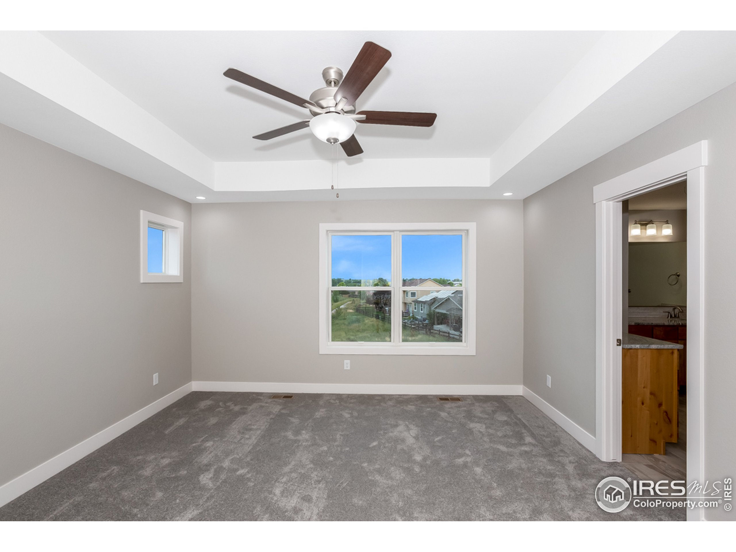 Featuring daylight windows and a tray ceiling