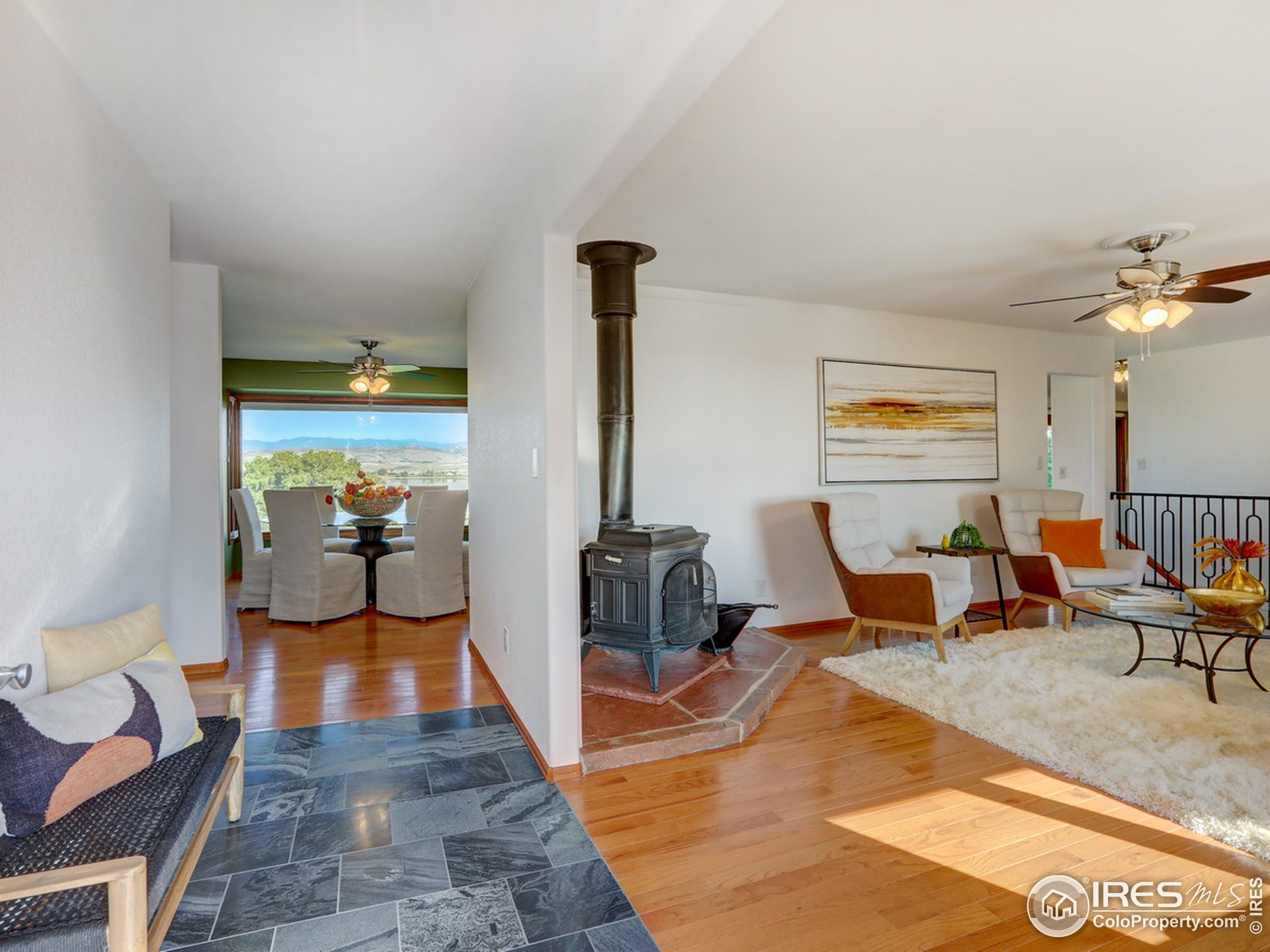 Walk in to open layout and beautiful views.
