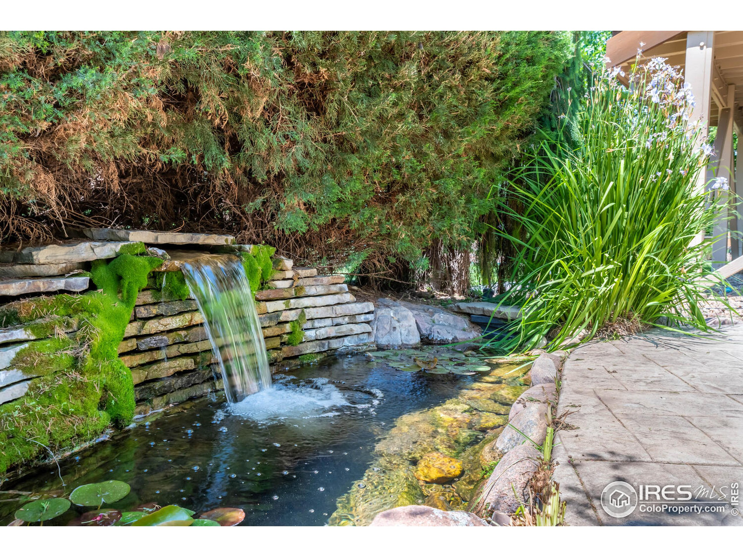 Flowing pond is a soothing outdoor water feature