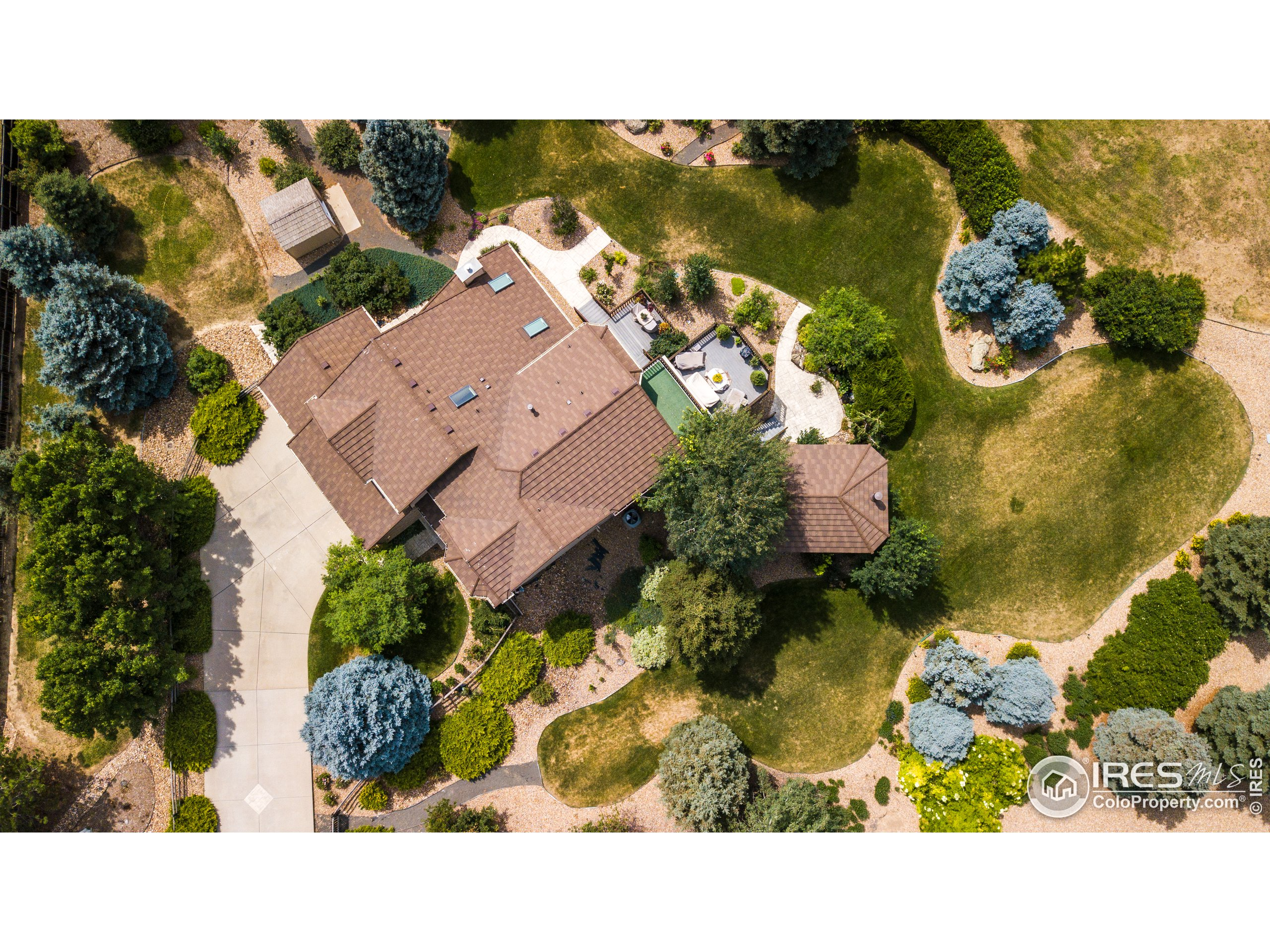 Bird's eye view really captures this property