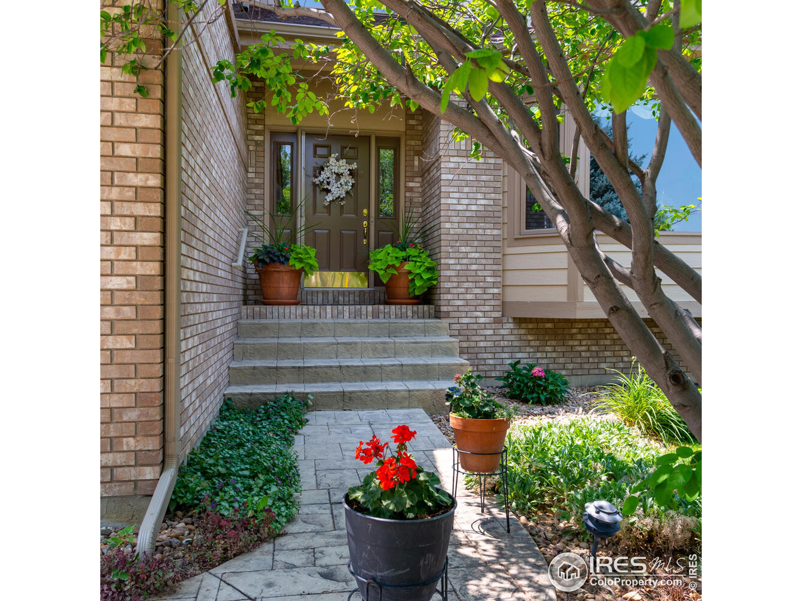Charming and welcoming front door