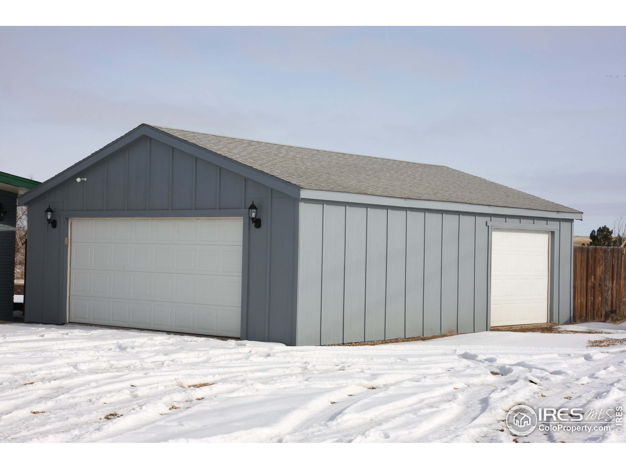 Aerial Photo 1.  The garage and workshop stay - all other trailers and sheds will be removed.