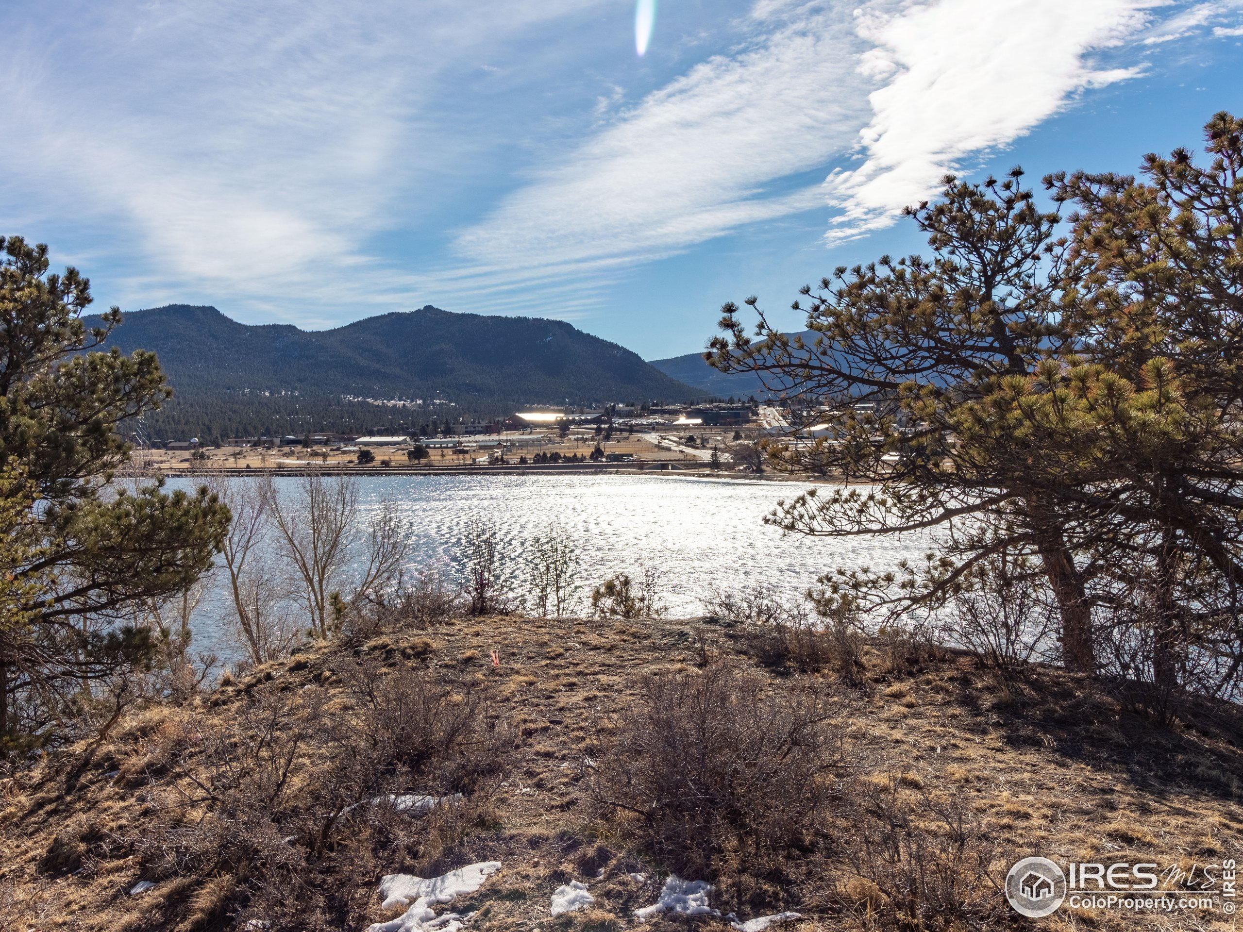 Shimmering waters of Lake Estes
