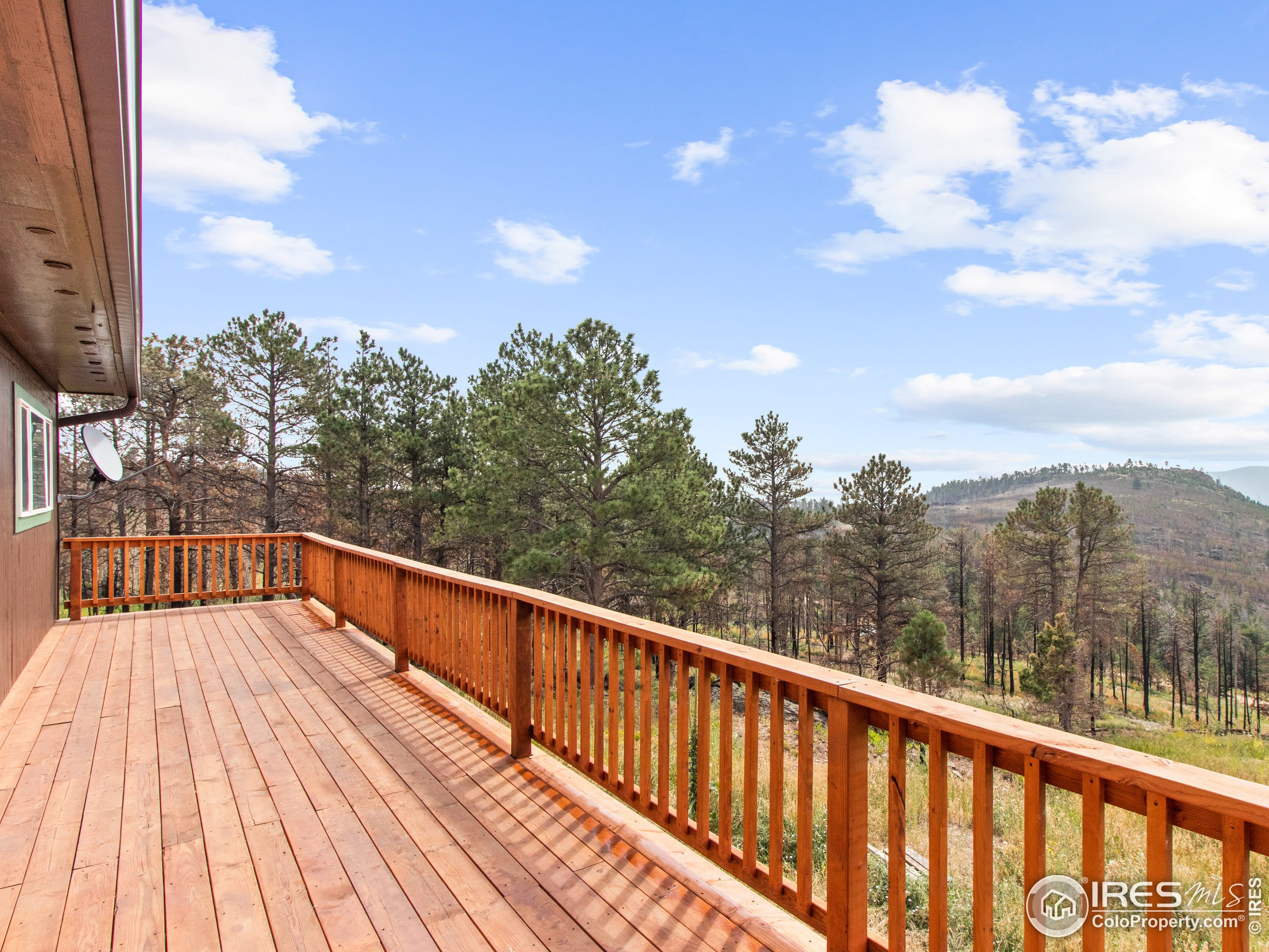 Relax on the newly stained deck!