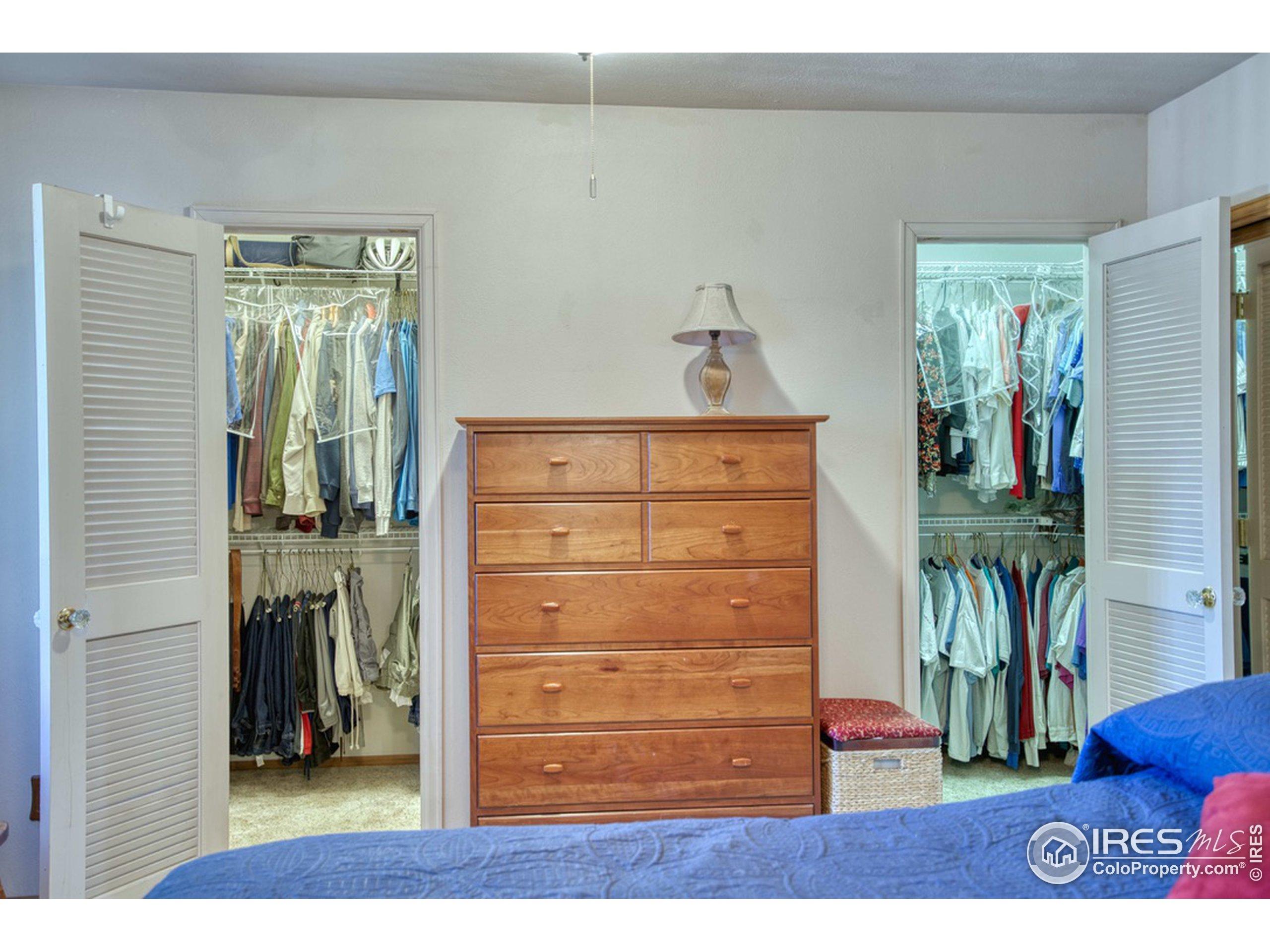 Primary Bedroom with 2 Walk-in Closets plus a 3rd Closet