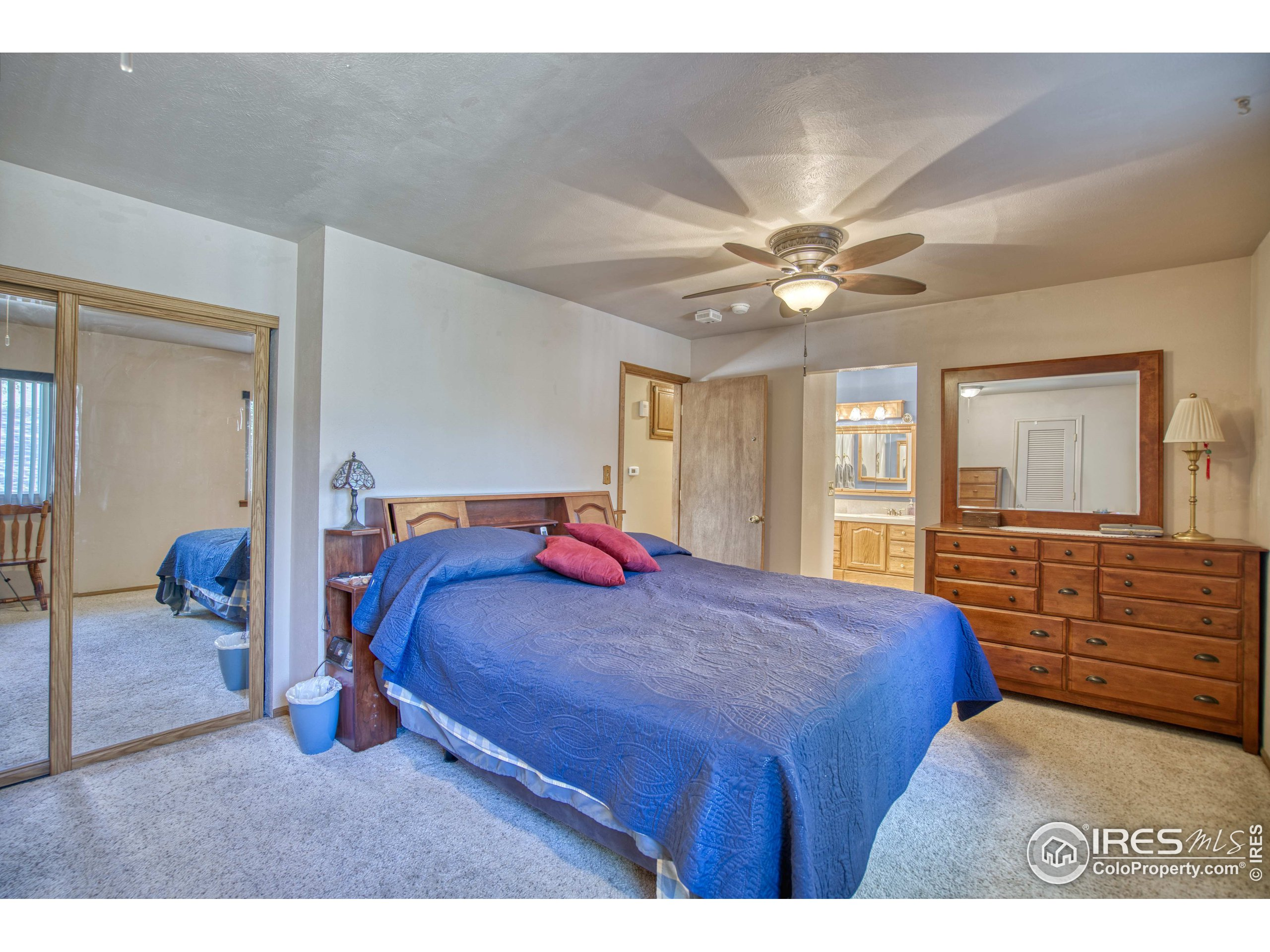 Primary Bedroom with 3 Closets & Private Bath