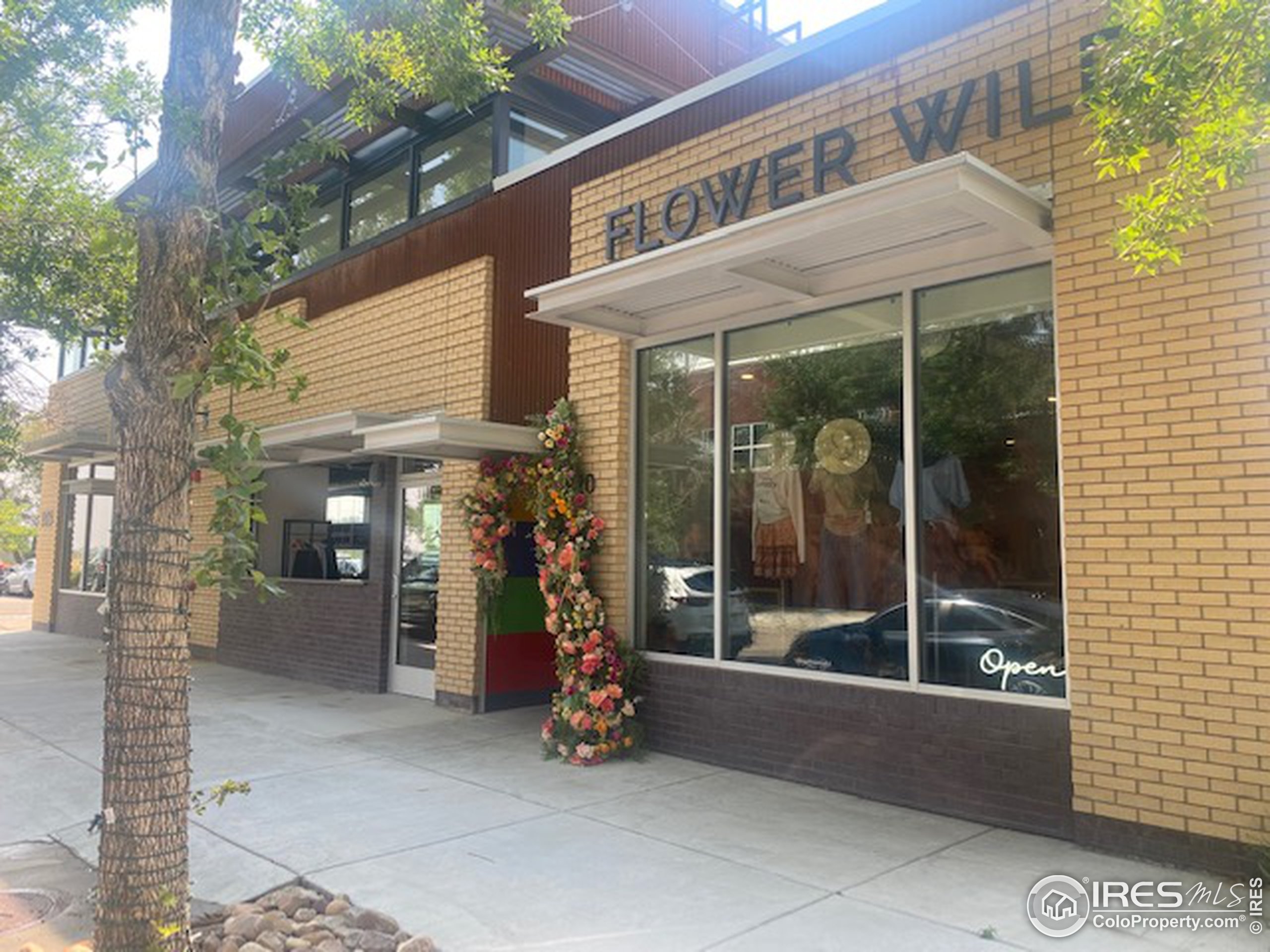 Honeycomb Hair Salon & Flower Wild Boutique are right across the street